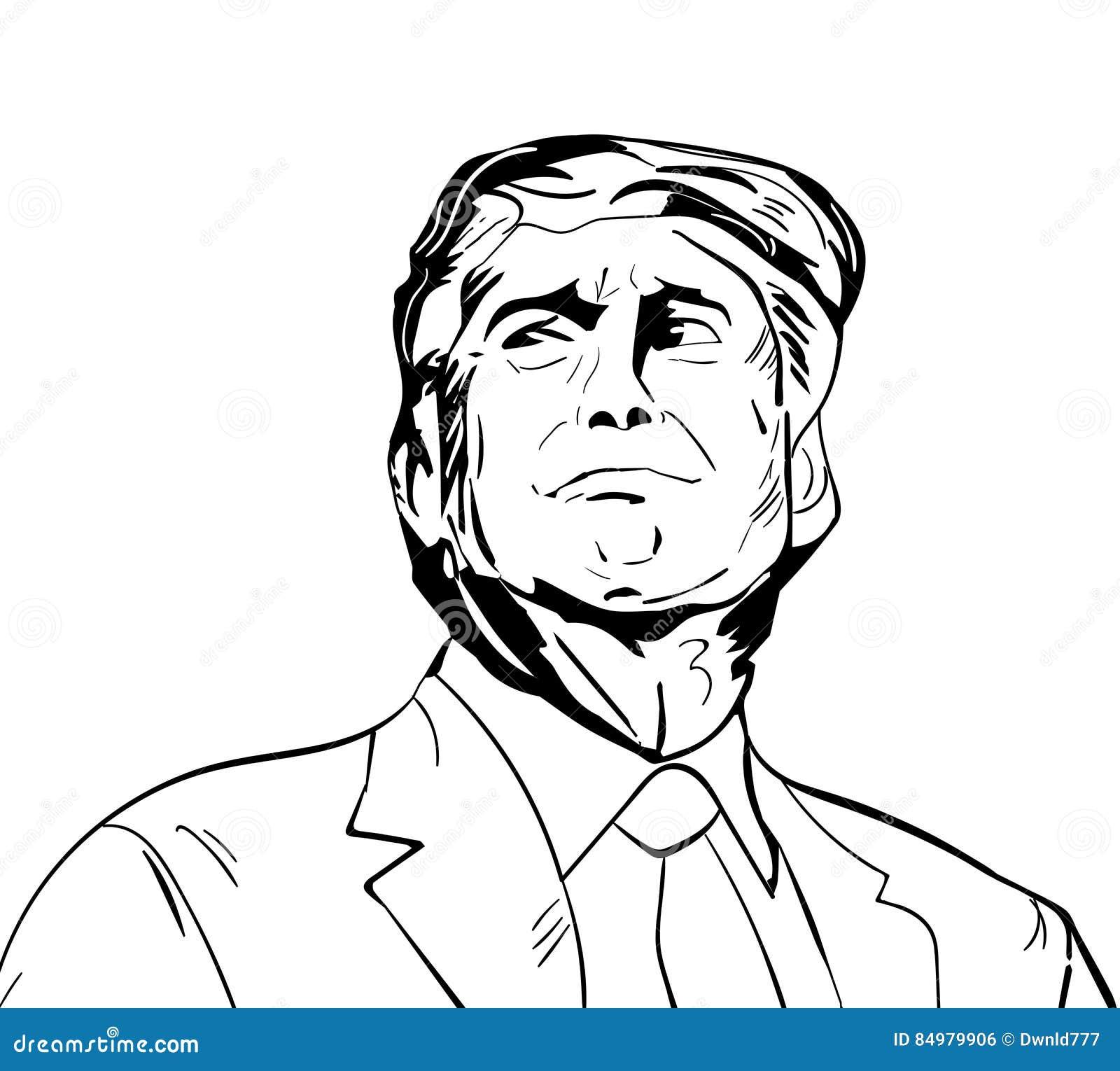 25 januar 2017 illustration amerikanischen präsidenten donald trum