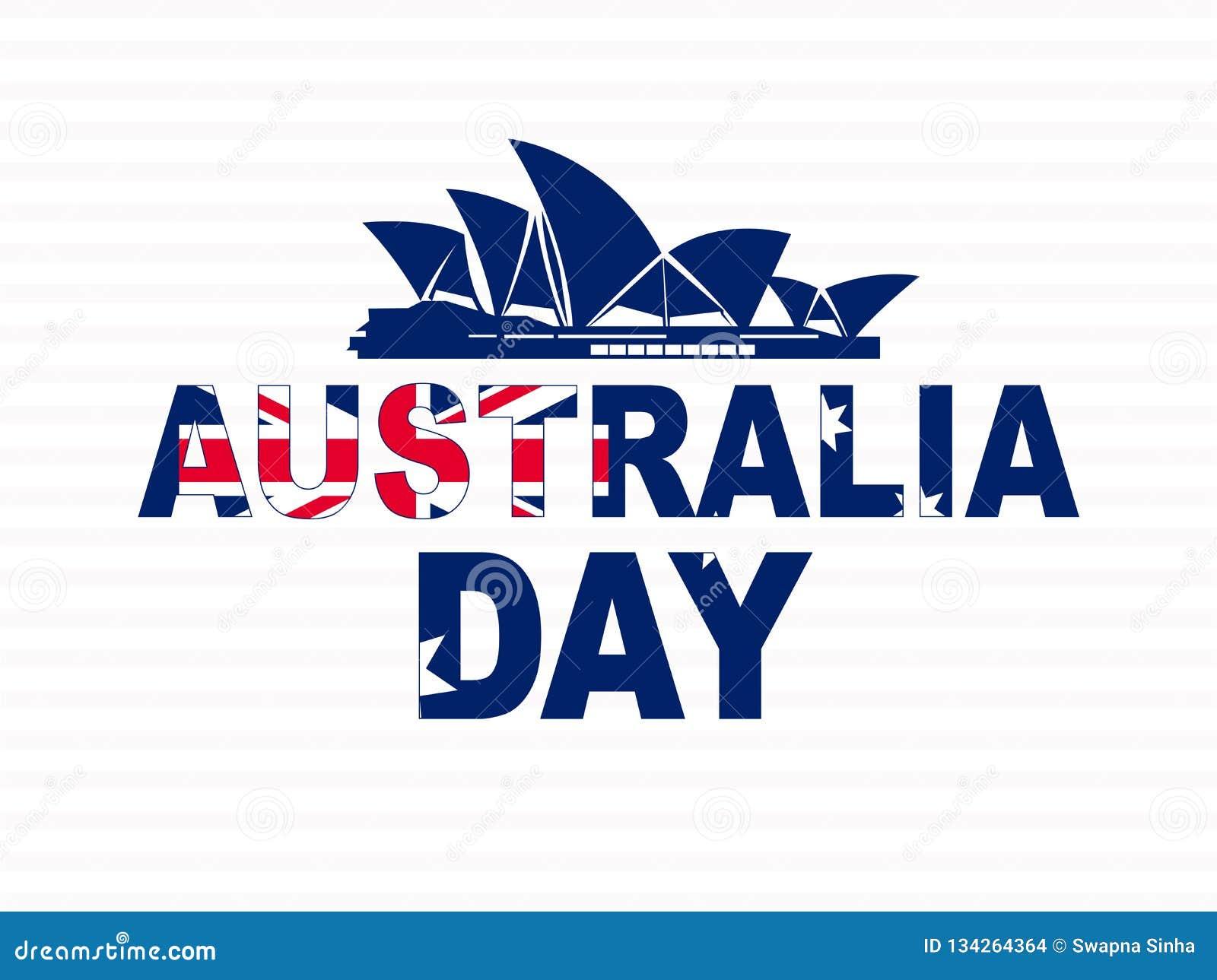 Januari för lycklig Australien dag 26 festlig bakgrund