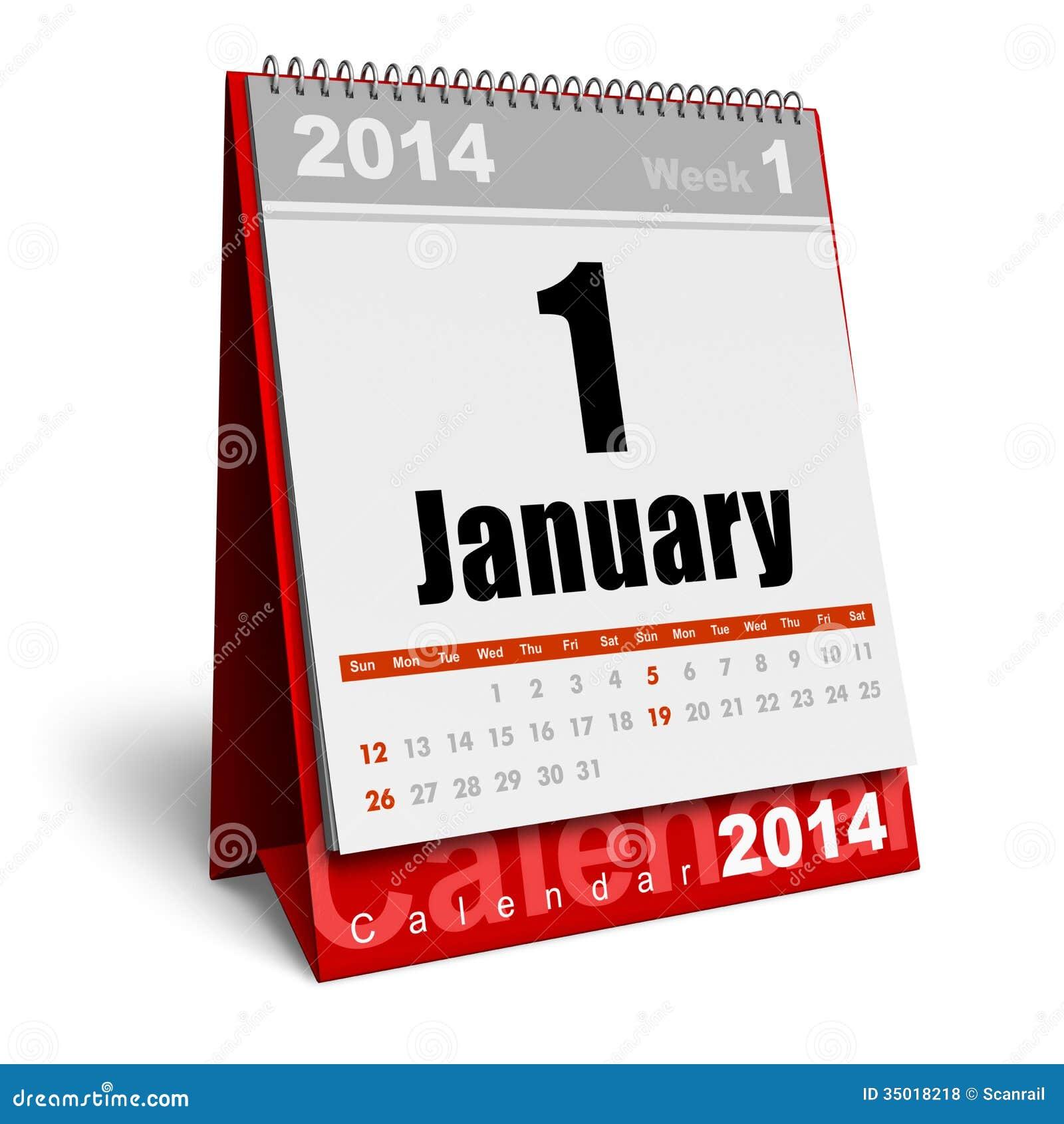 January 2014 Calendar Royalty Free Photos Image 35018218 – Free Office Calendar