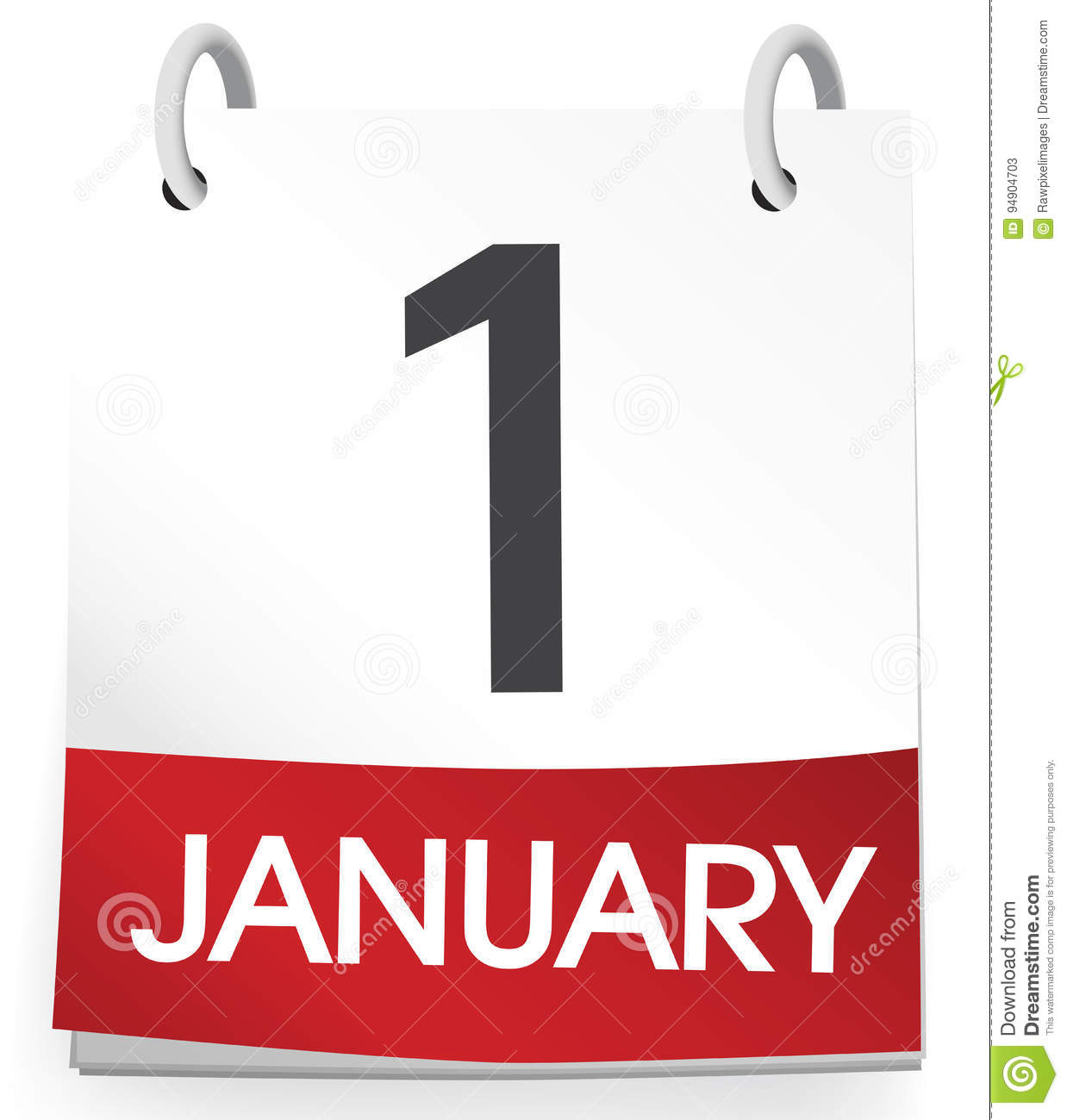 january first on calendar new year