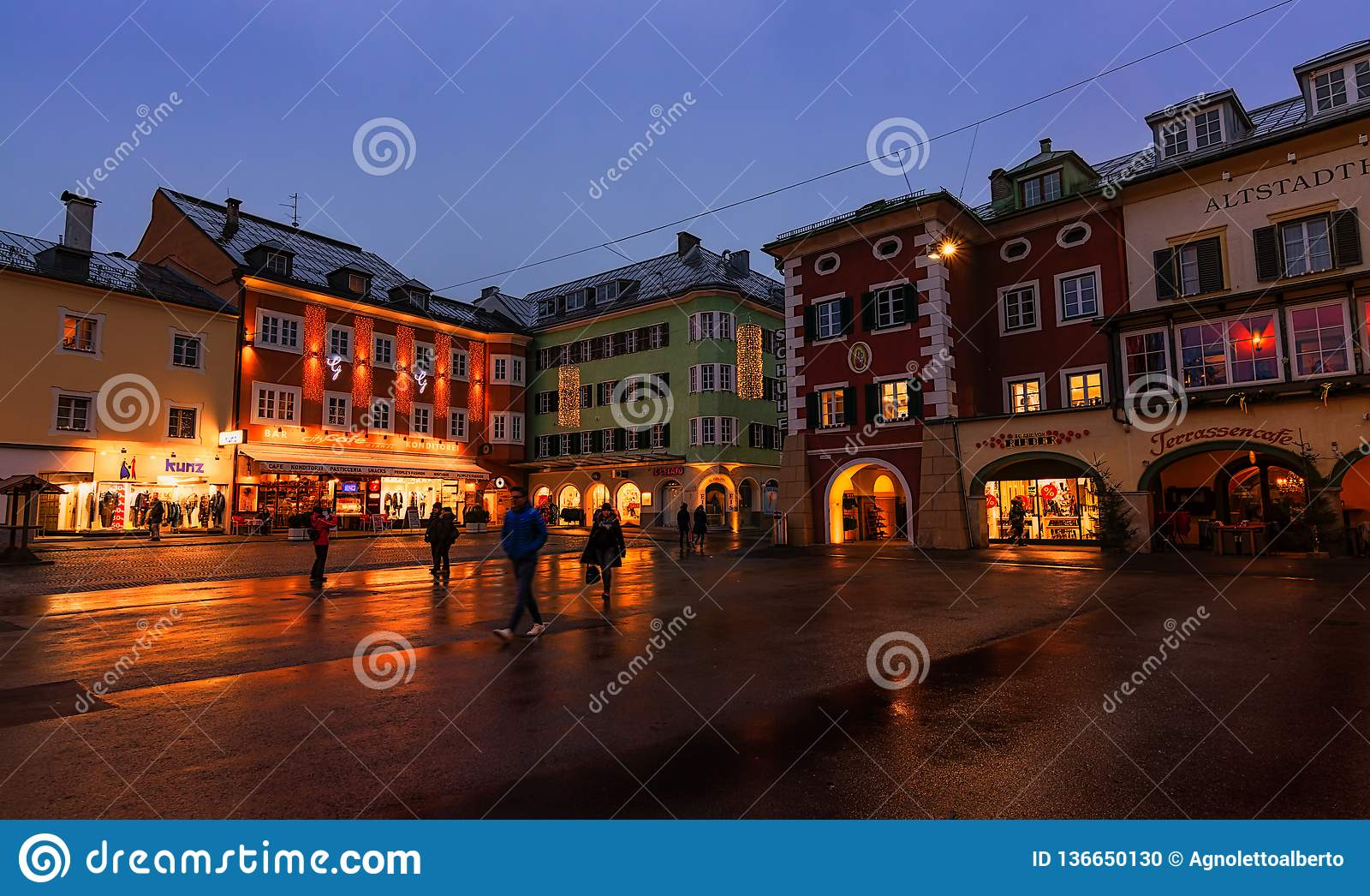 Christmas In Austria 2019.5 January 2019 Lienz Austria Christmas Decorations On The