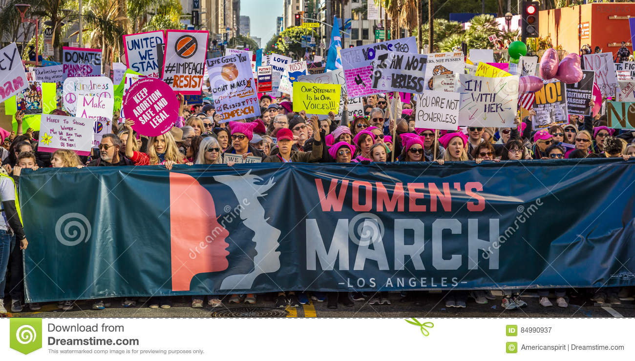 JANUARY 21, 2017, LOS ANGELES, CA. 750,000 participate in Women s March, activists protesting Donald J. Trump in nation s largest