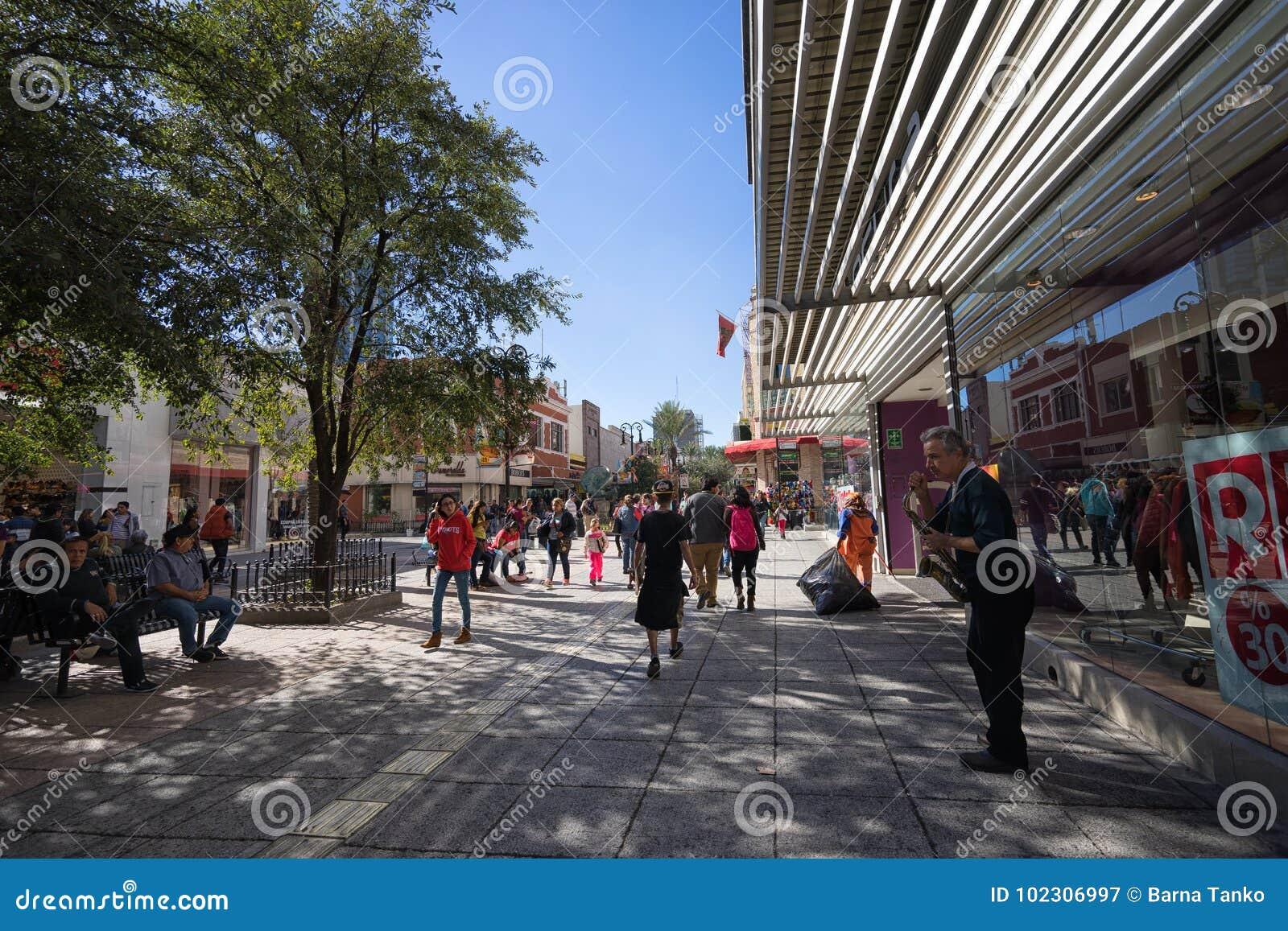 Plaza Morelos shopping area Monterrey Mexico