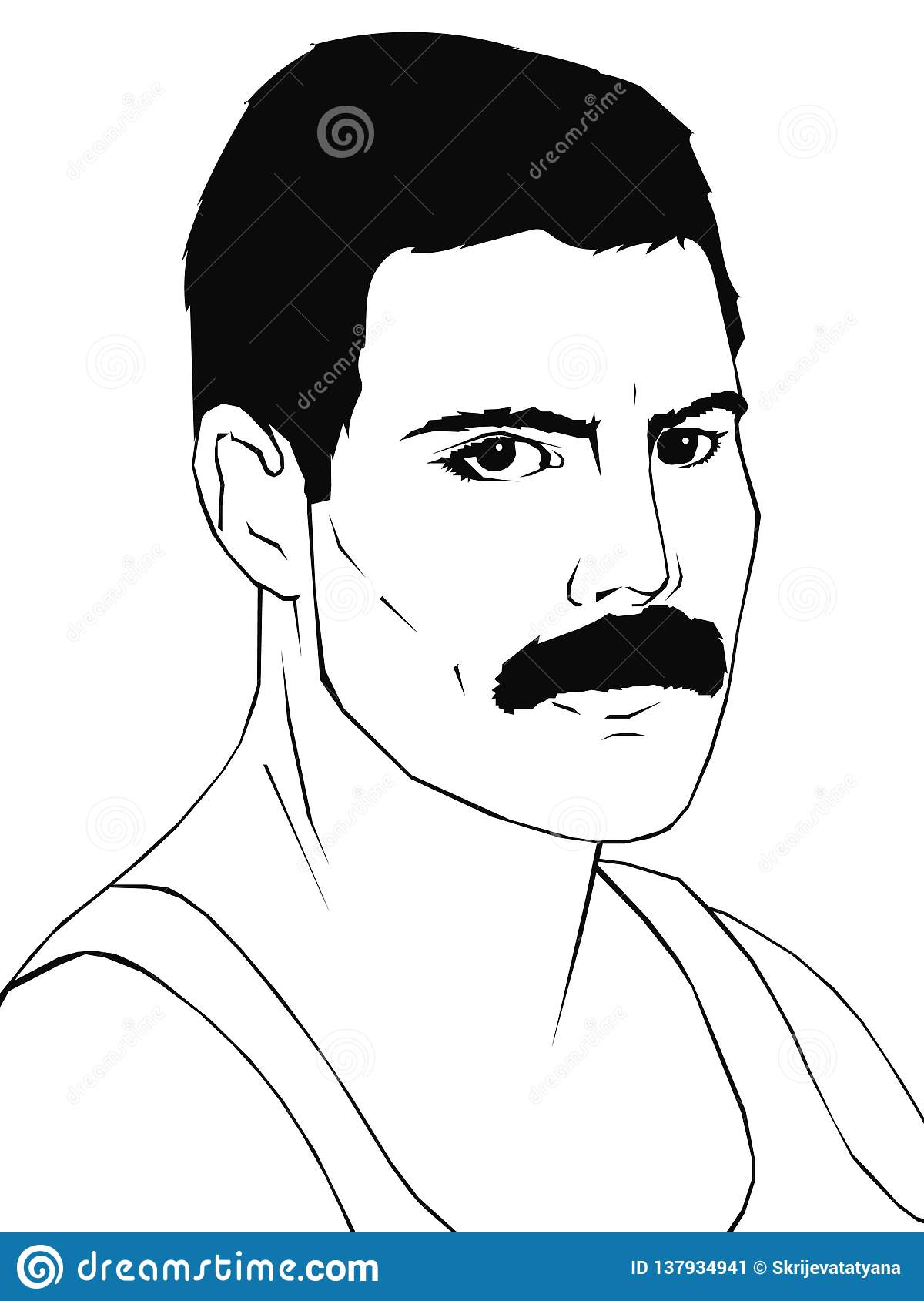 january 29 2019 portrait of freddie mercury editorial use only editorial photo illustration of mercury head 137934941 https www dreamstime com january portrait freddie mercury editorial use black white image137934941