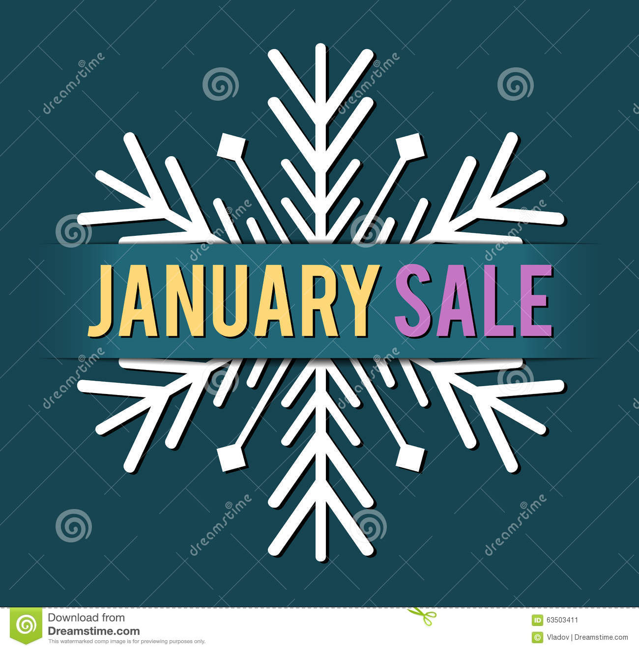 January Sale Vector Stock Vector