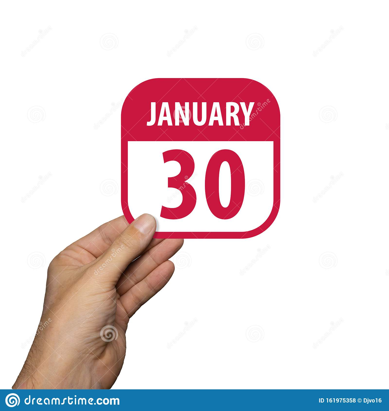January 30th Day 30 Of Month Calendar On Cork Notice Board