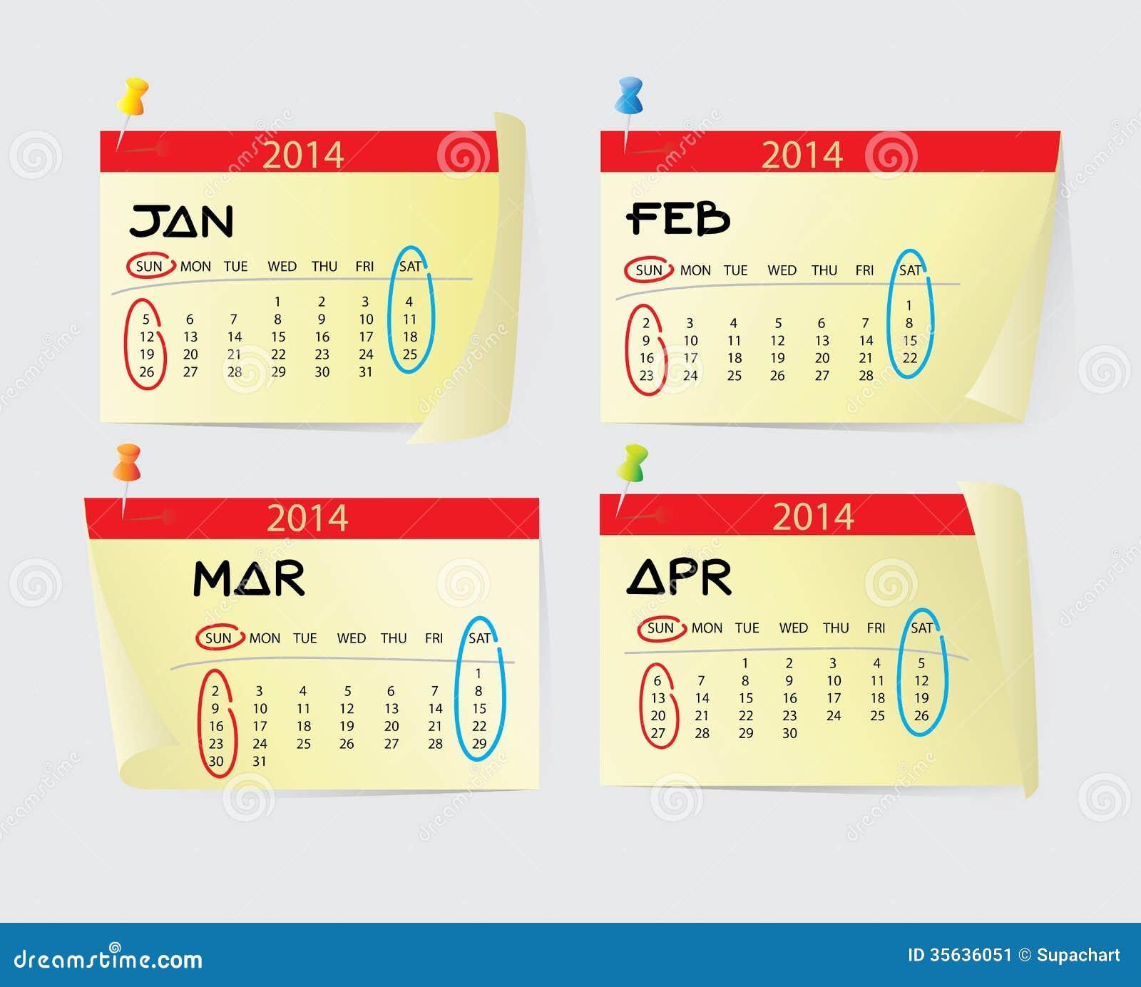 Calendar January April : January to april calendar stock image