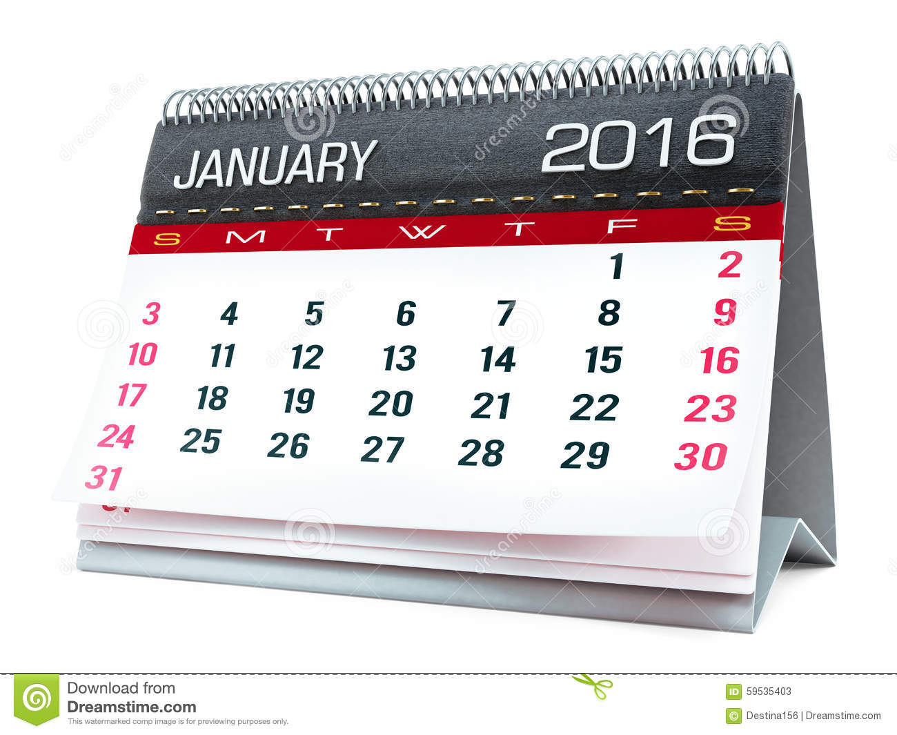 Janvier 2016 calendrier de bureau illustration stock illustration du mois neuf 59535403 - Calendrier de bureau photo ...