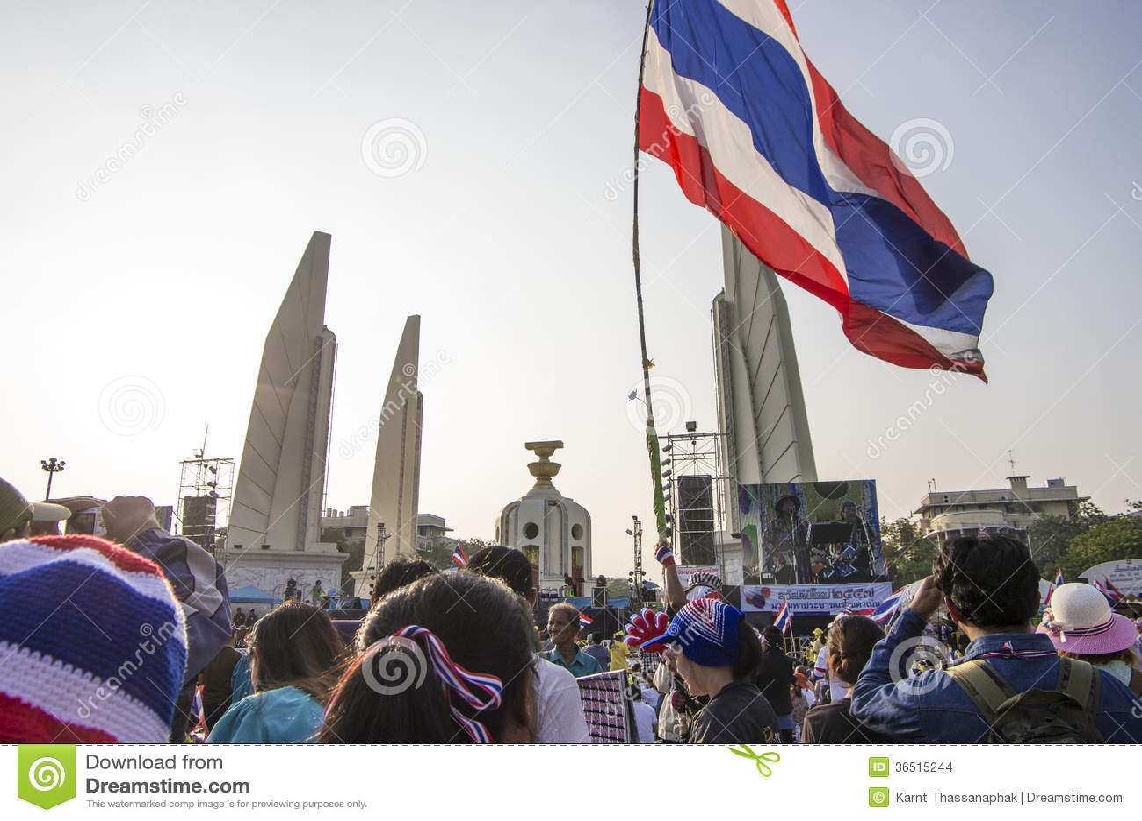 5 janvier 2014 : Protestataires anti-gouvernement chez Democra