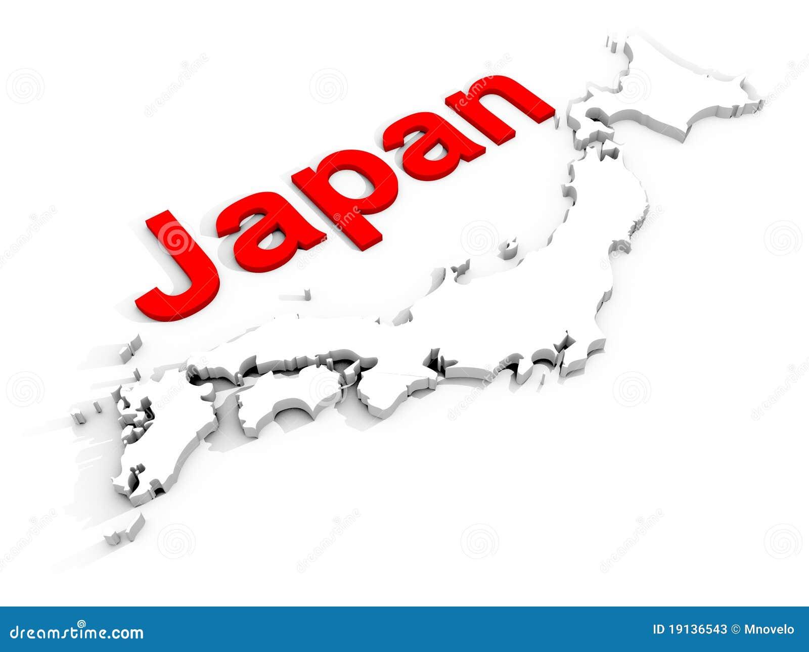 Japan Stock Photos Image - Japan map 3d