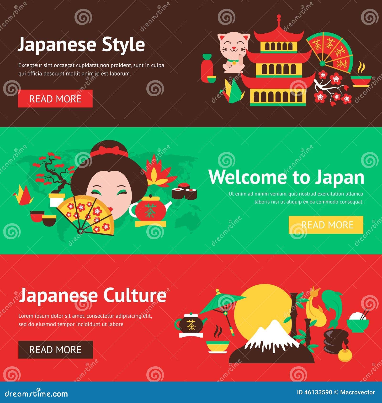 Japan banner set stock vector. Illustration of bookmark ...