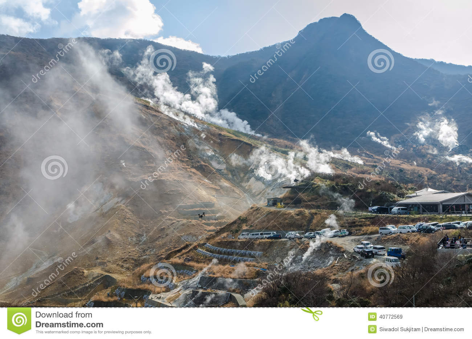 Japan berg på Owakudani