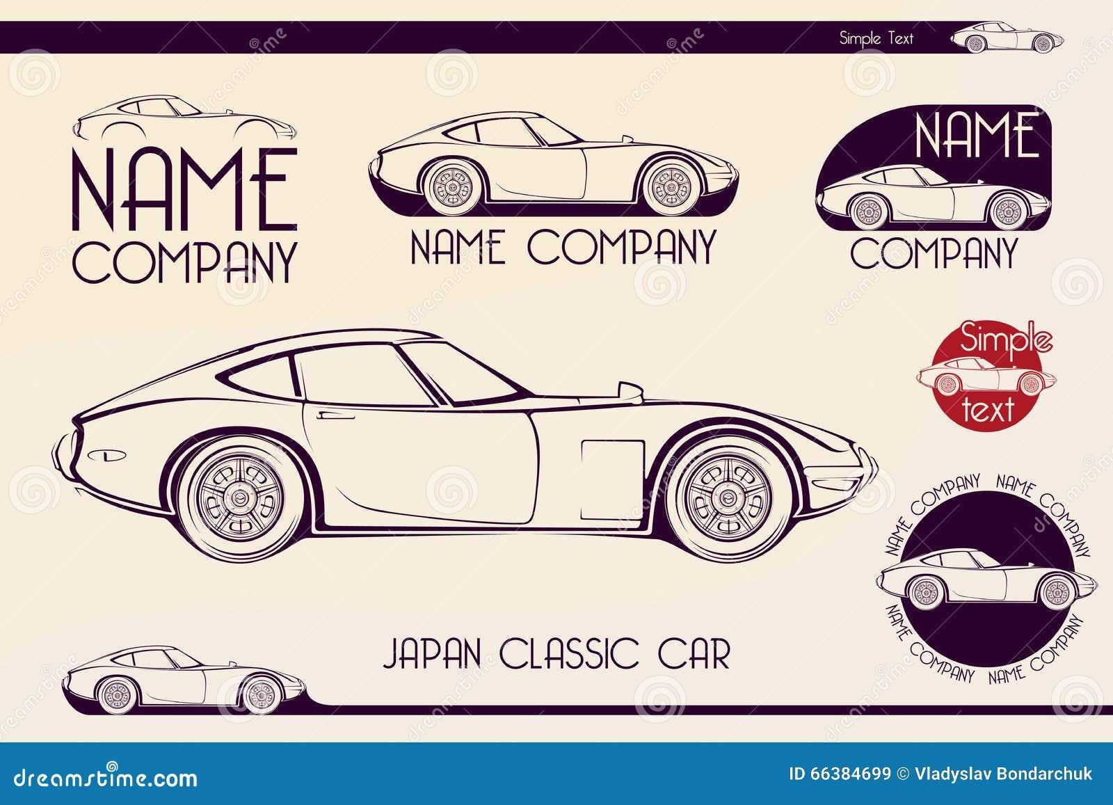 Japan Classic Sports Car, Silhouettes Stock Illustration   Illustration Of  2000, Logo: 66384699