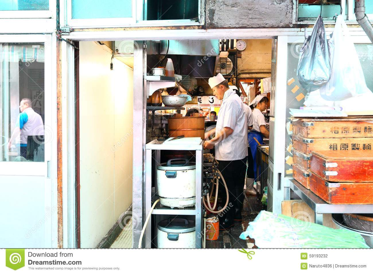 Japan: Cook in the kitchen