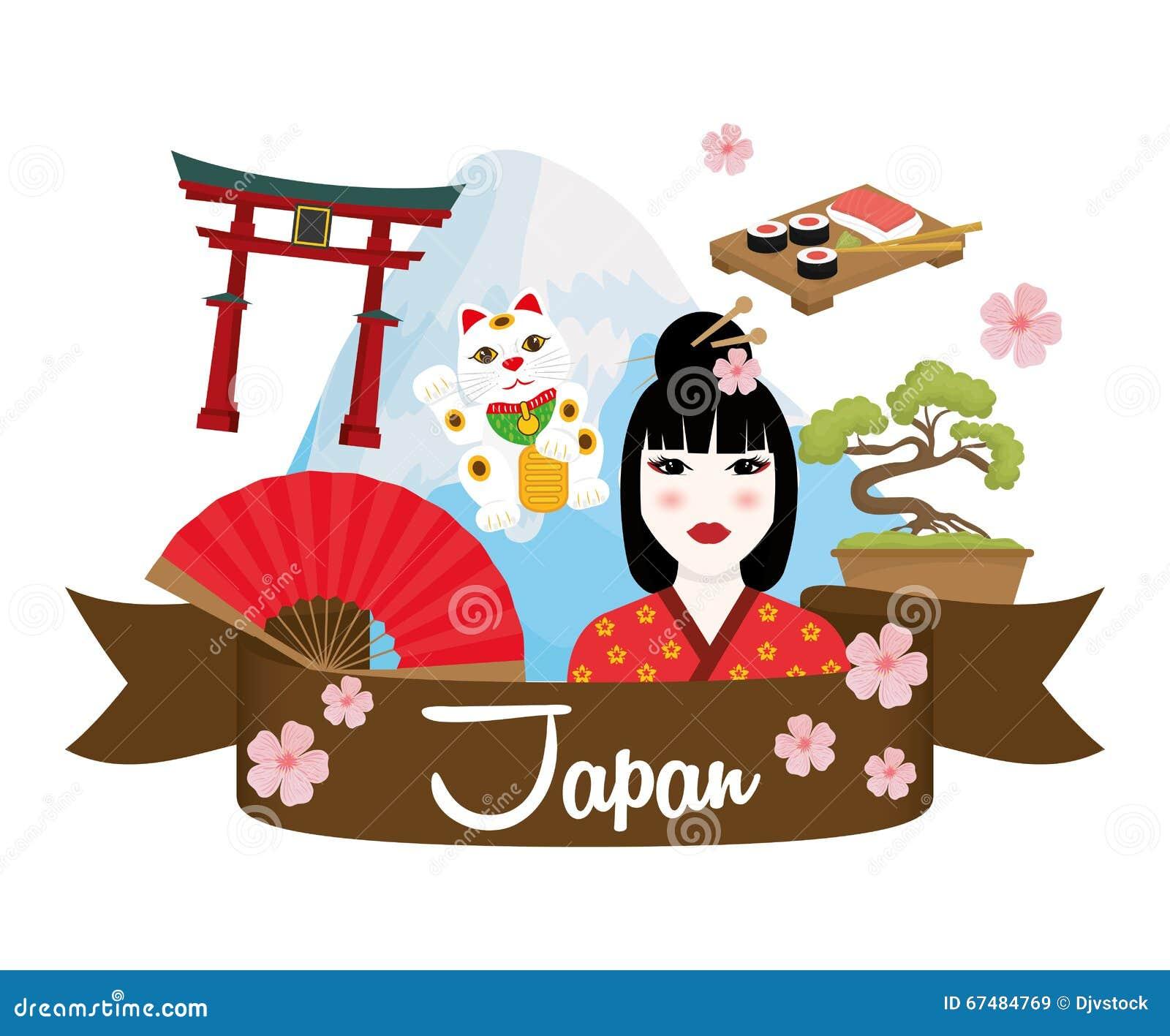 japan culture design stock vector illustration of tourism
