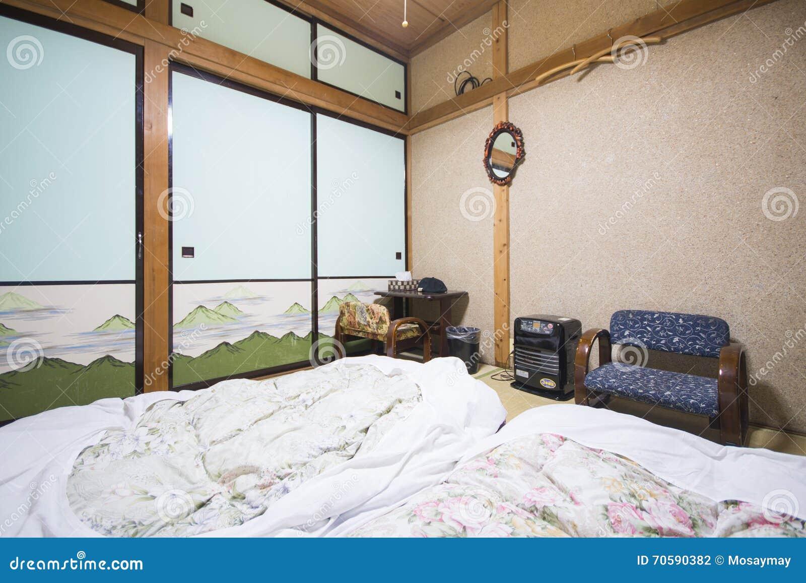 Japan 19 Februar 2016 Traditionelles Schlafzimmer Der
