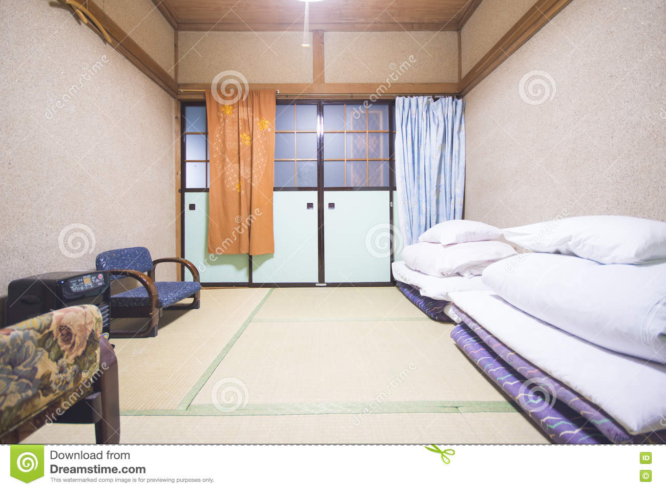 Japan February 19 2016 Traditional Japanese Style Bedroom