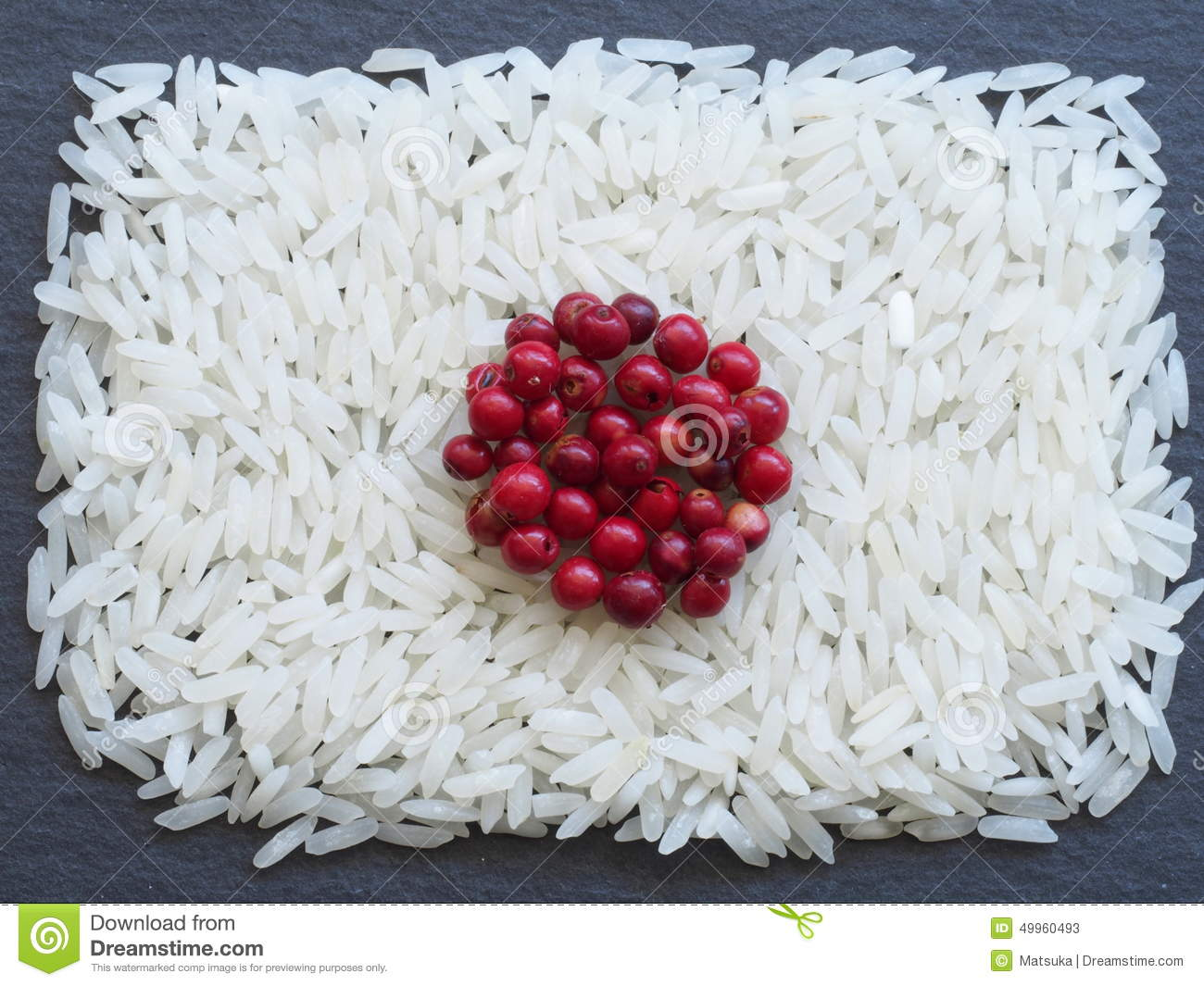 japan flag made of rice and condiments stock photo image 49960493