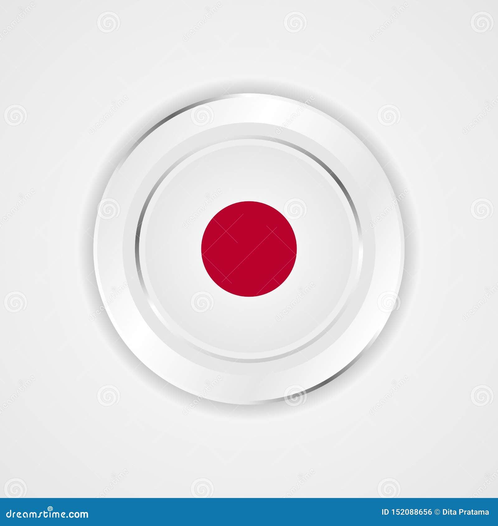 Japan flagga i glansig symbol