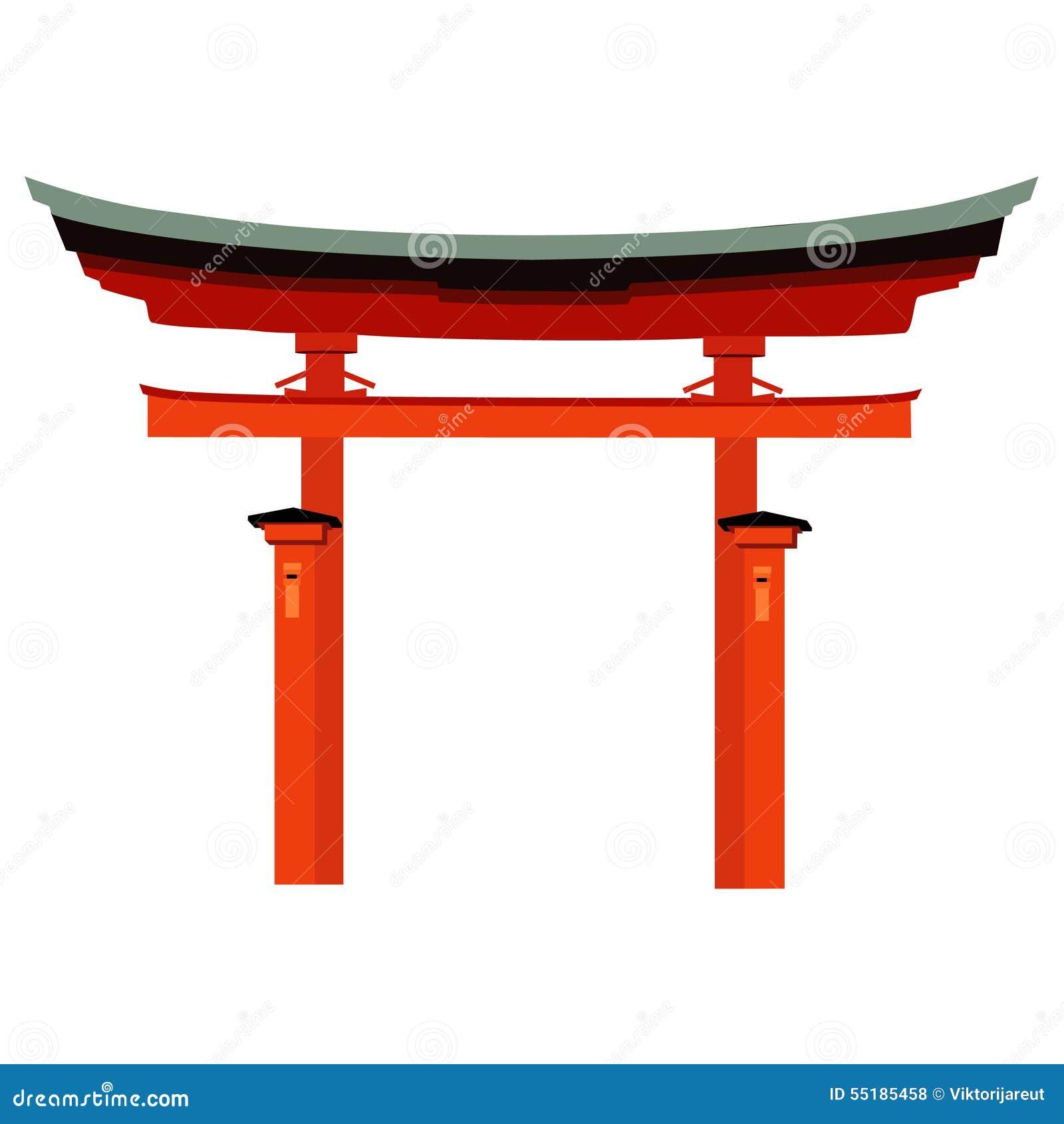 Japan gate stock vector image 55185458 for Porte japonaise