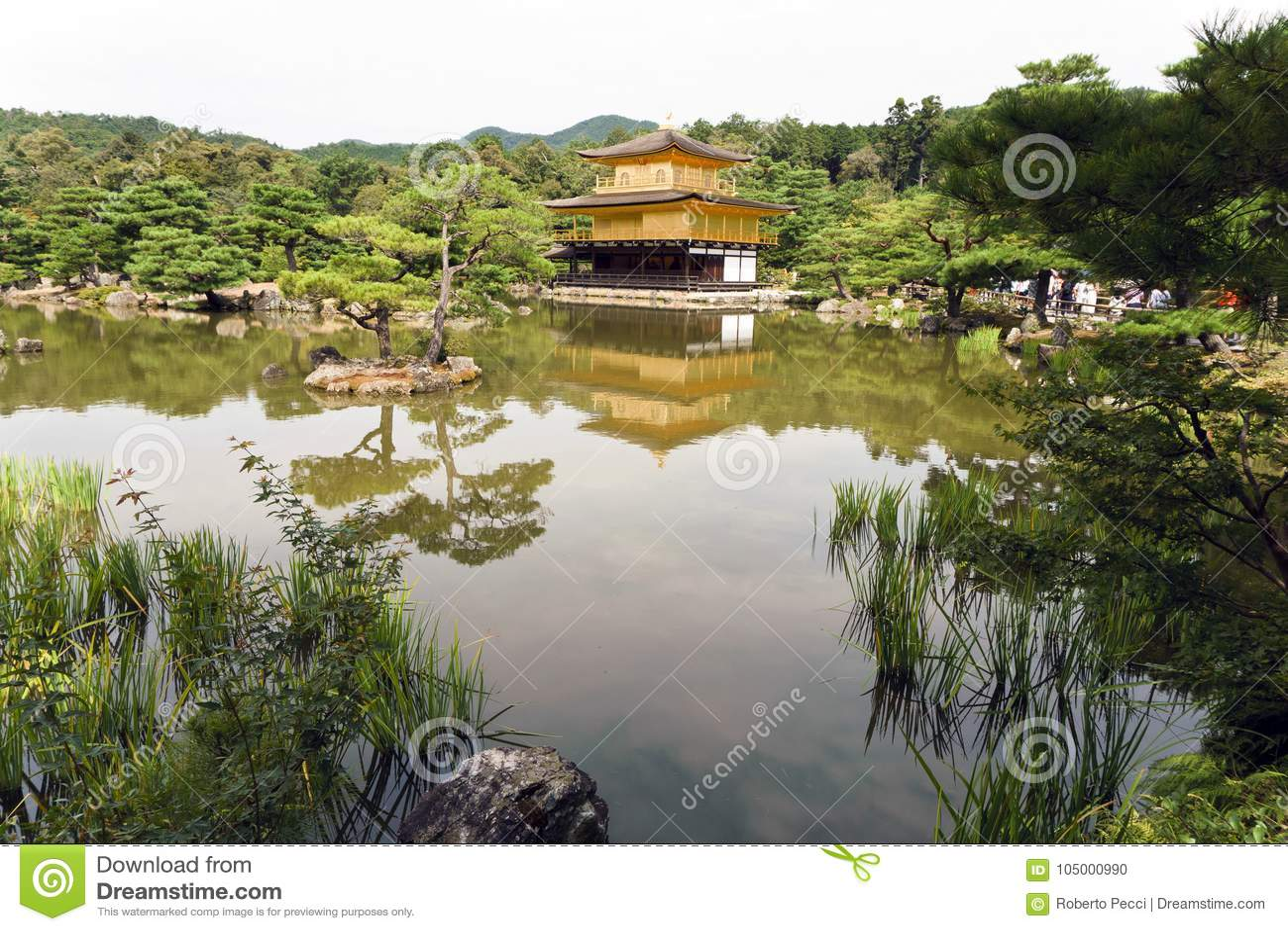Japan, Kyoto, das Kinkakuji oder goldener Pavillon
