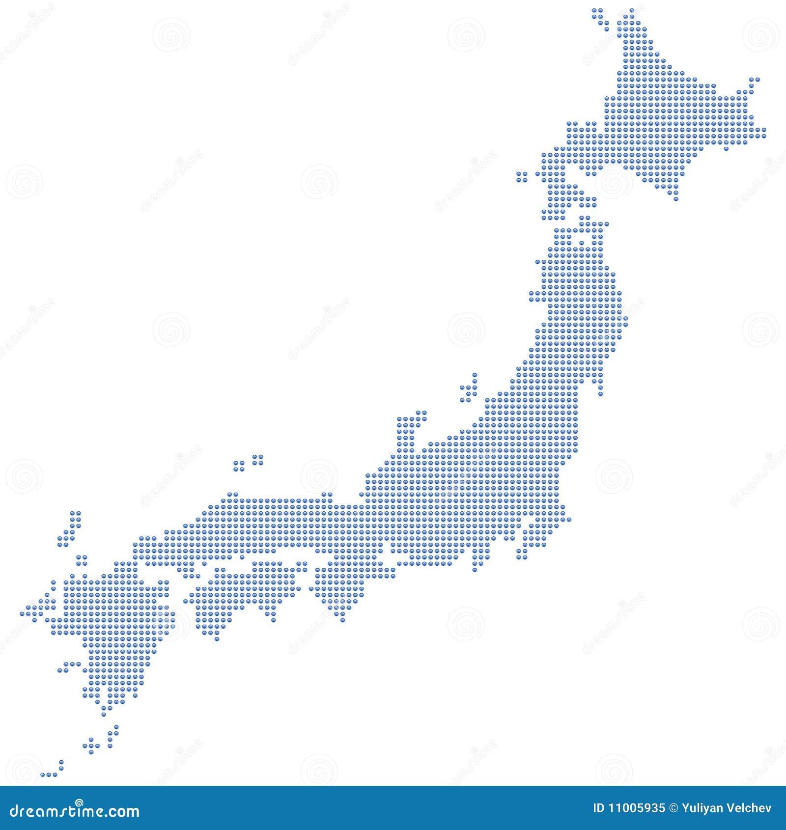 Japan Map Dots Royalty Free Stock Photo Image - Japan map vector free download