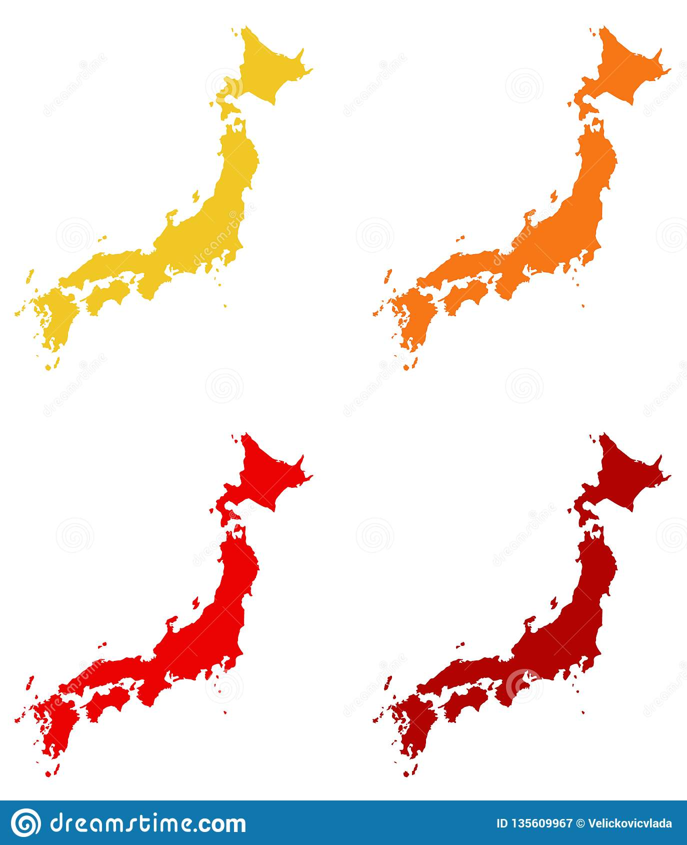 Japan Map - Island Country In East Asia Stock Vector - Illustration ...