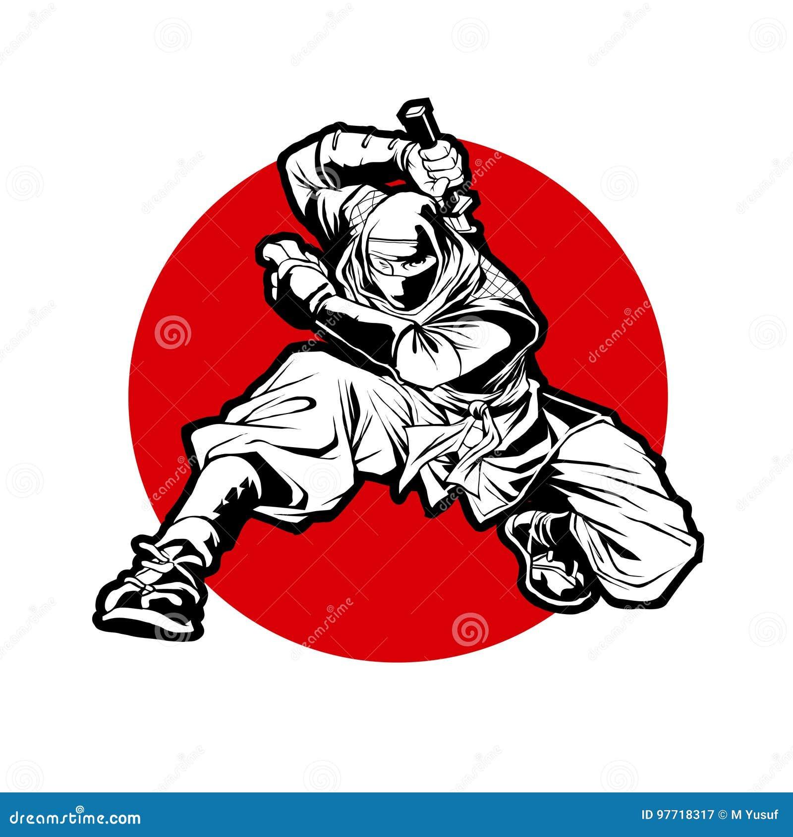 2d676b283 Japan Ninjas Sport Logo Concept. Katana Weapon Insignia Design ...