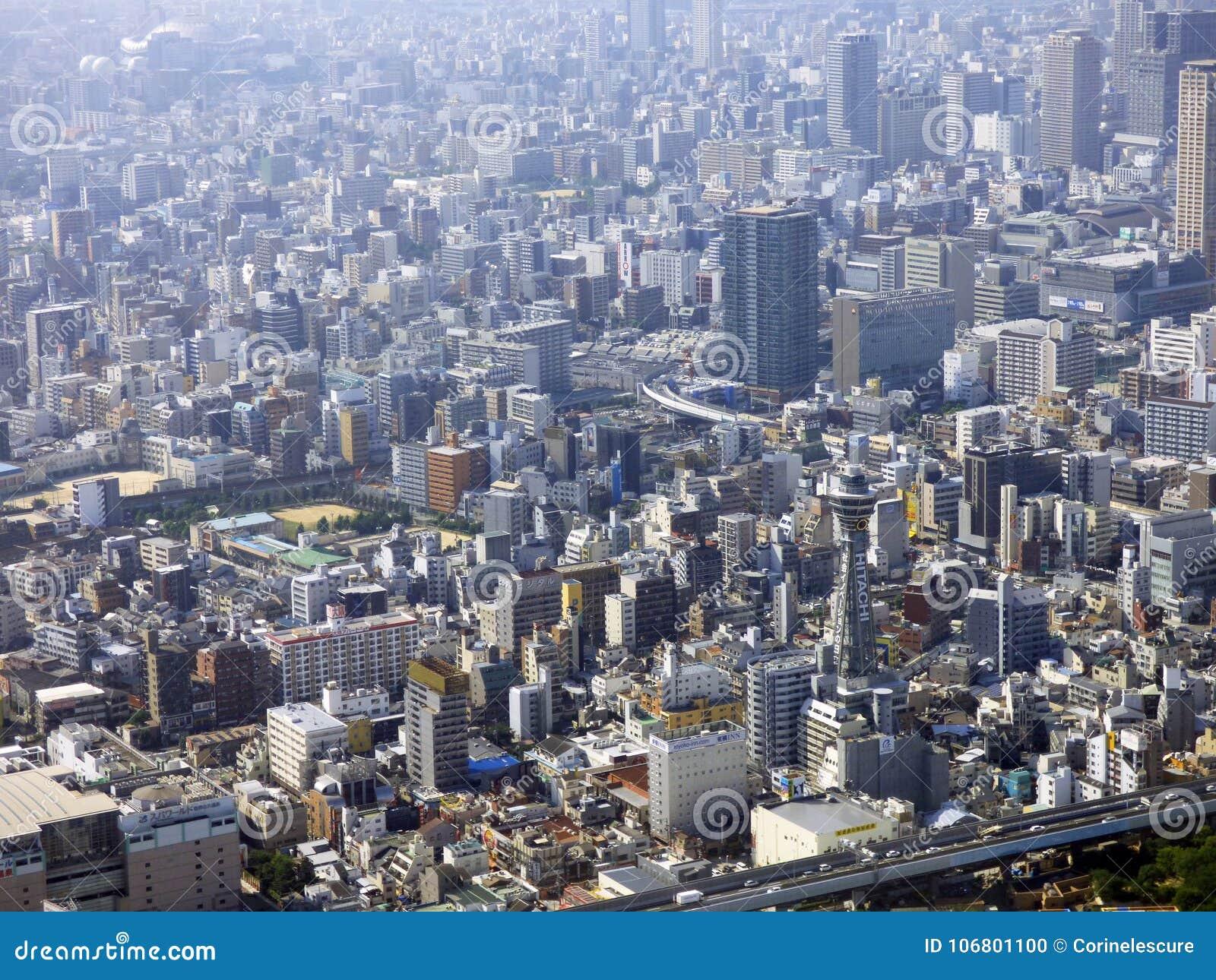 Download Japan Osaka Turm Abeno Harukas Redaktionelles Bild - Bild von panoramisch, japan: 106801100