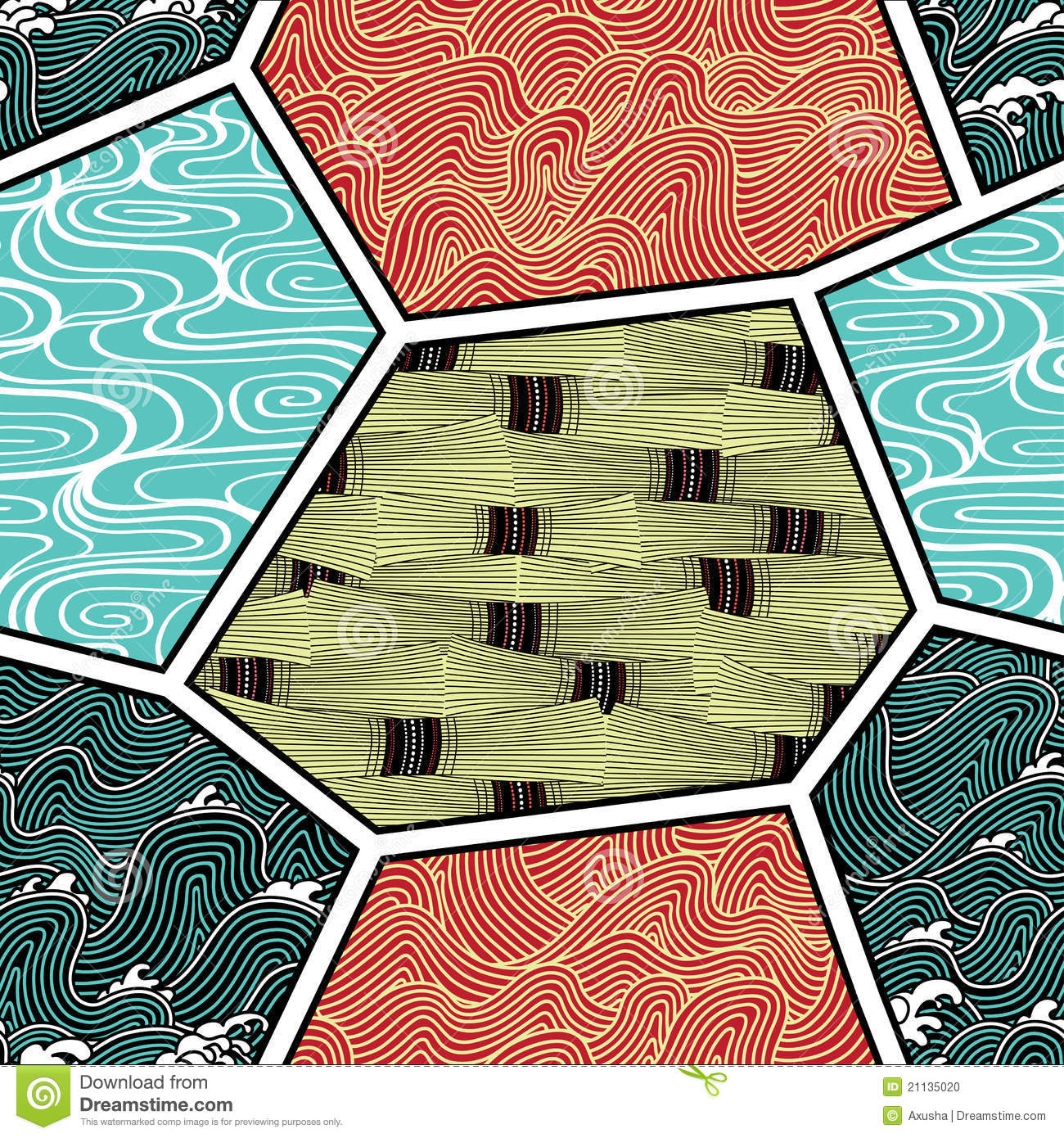 Japan Pattern With Nature Elements Stock Photo - Image: 21135020