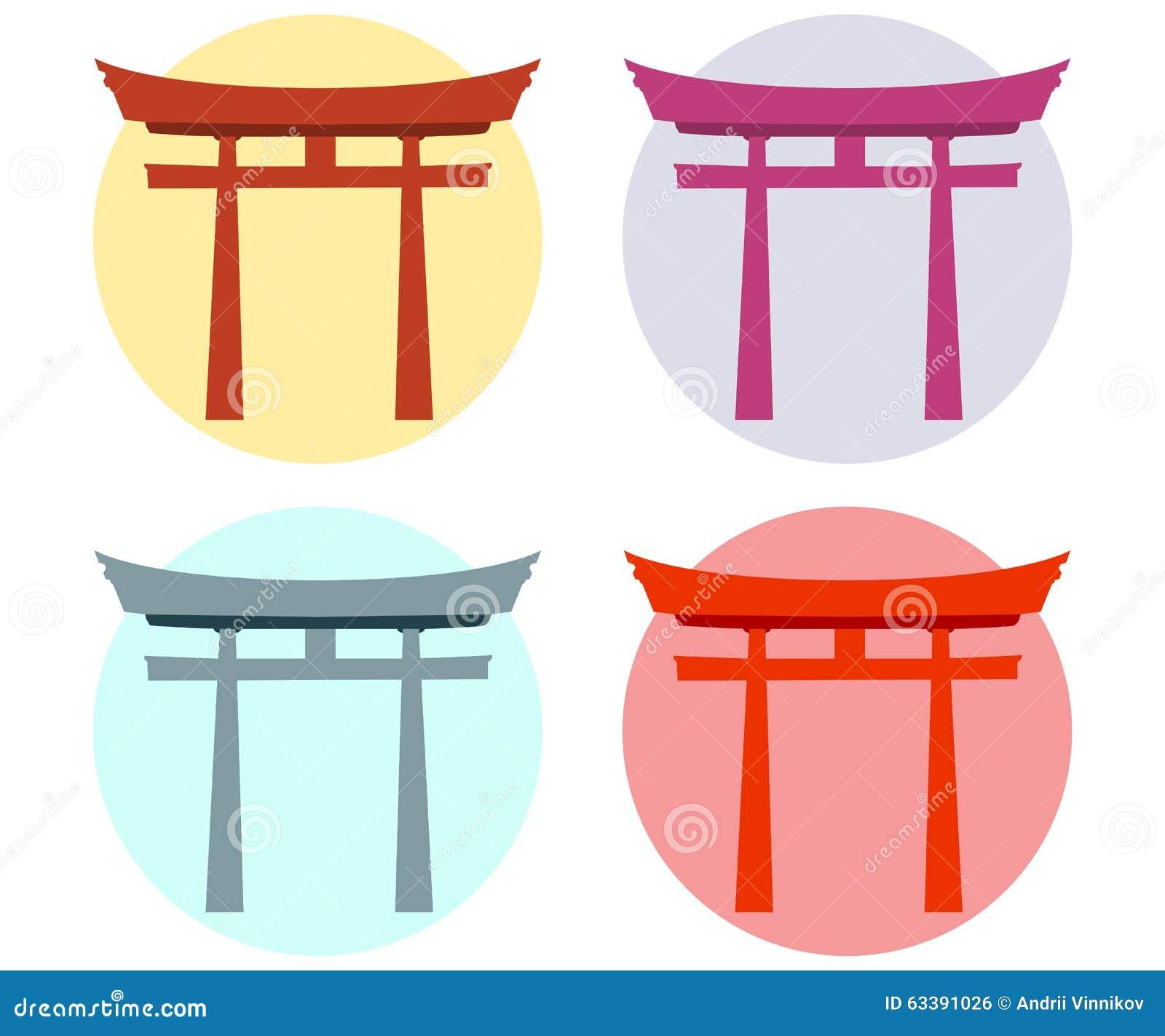Japan port Torii utfärda utegångsförbud för plant shinto