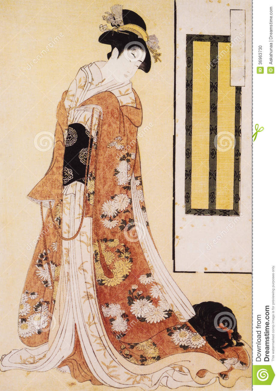 Japan S Traditional Costume Stock Photo - Image of