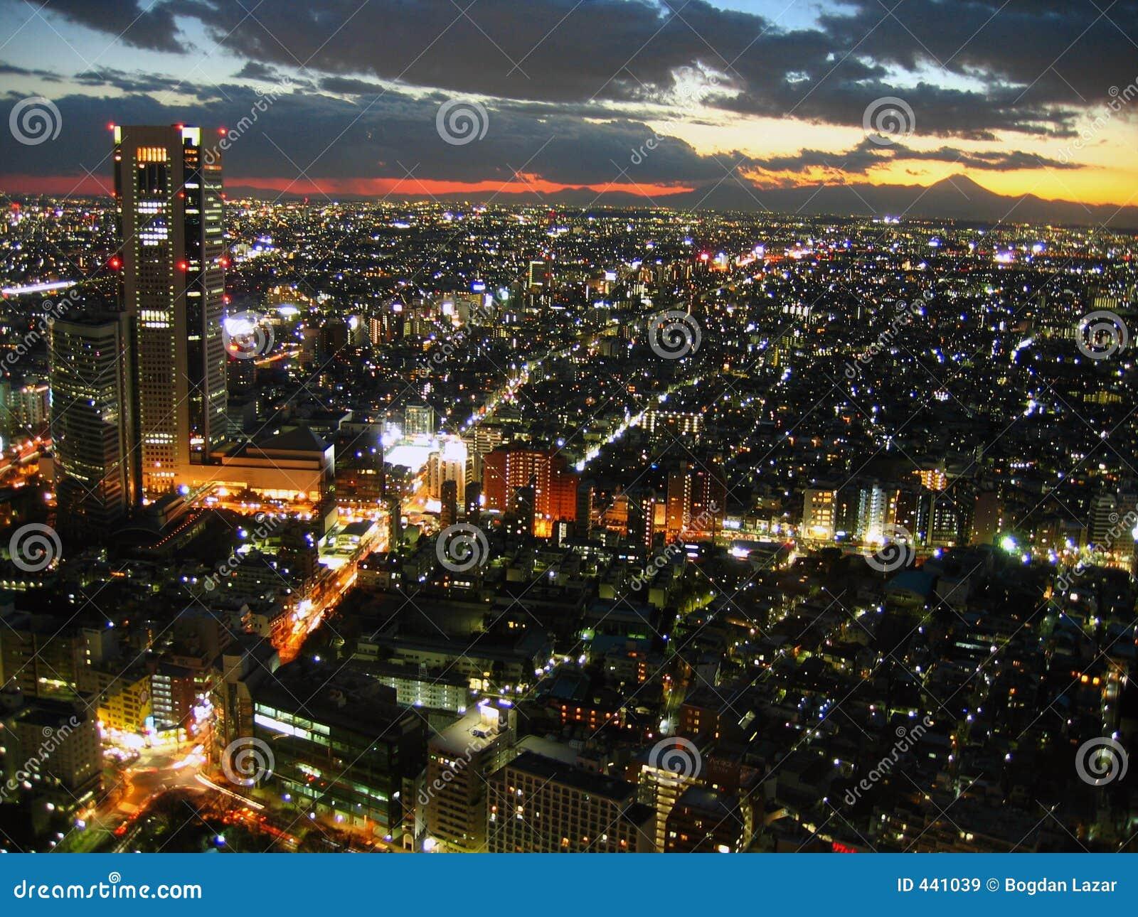 Japan tokyo skymning