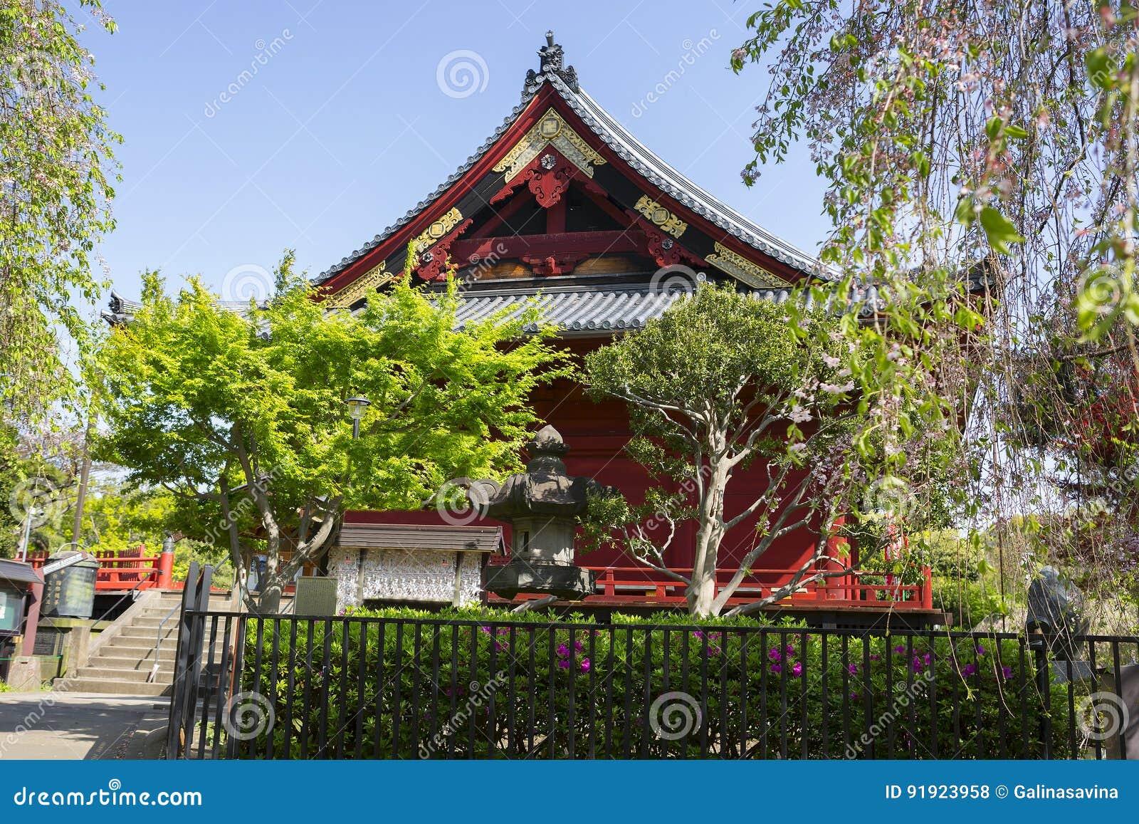 Japan. Tokyo. Temple in Ueno Park.