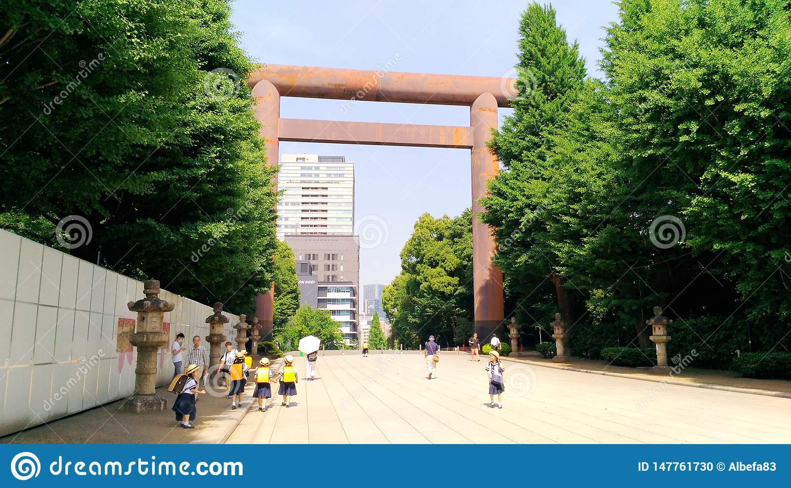 Japan, Tokyo, the view of the small students