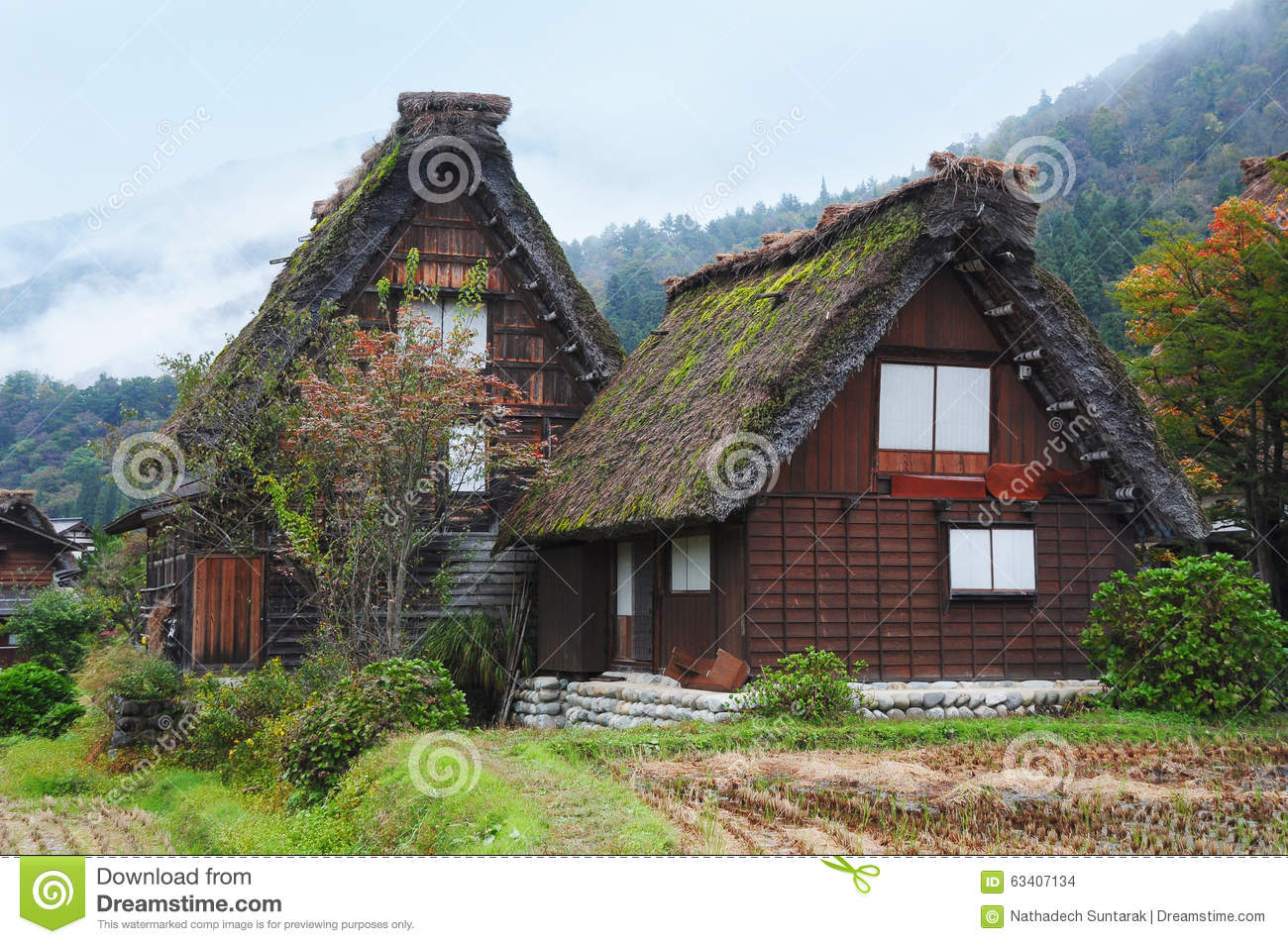 Japan Traditional House In Shirakawago Stock Photo Image