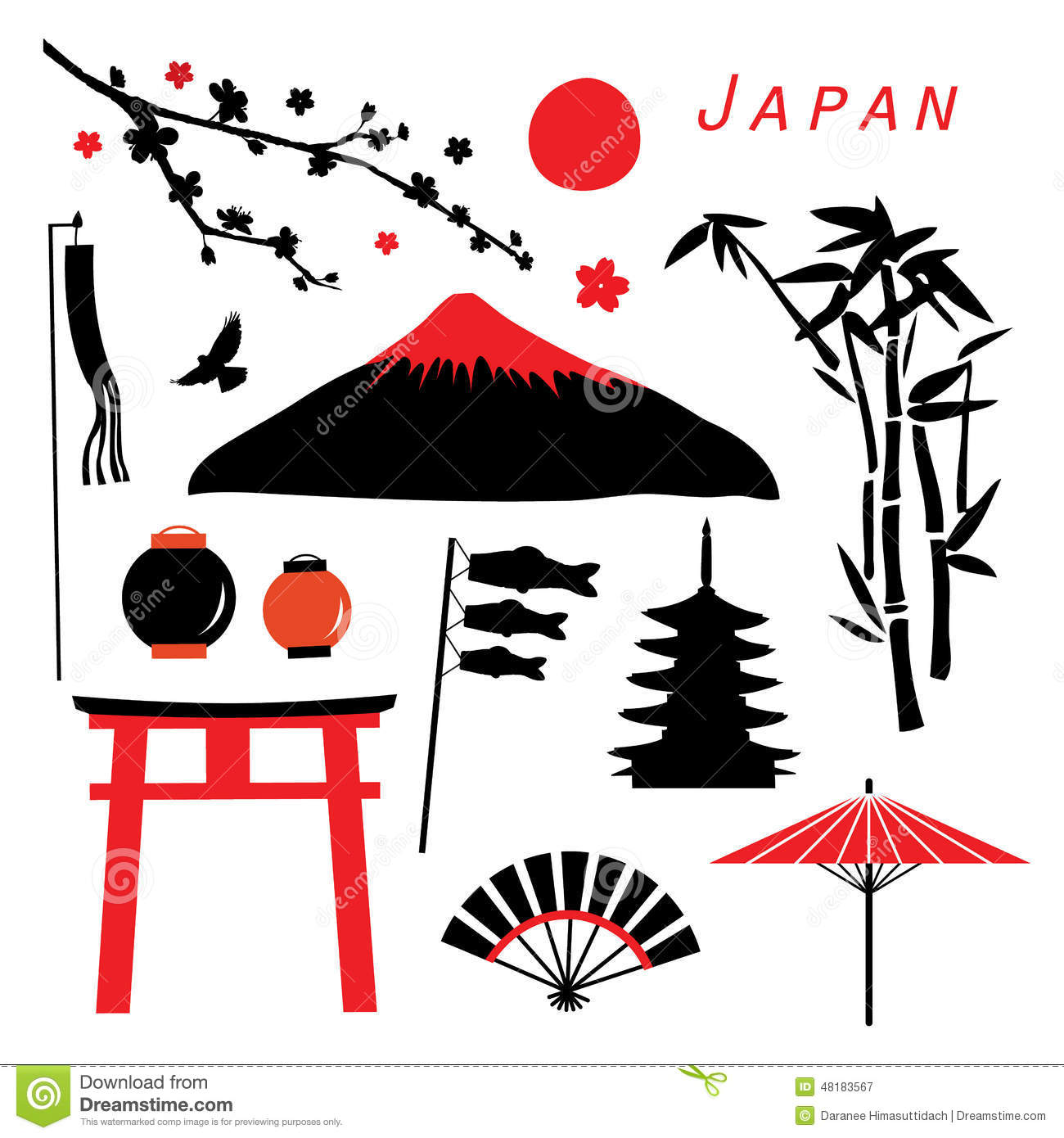 japan travel icon design vector stock vector image 48183567 koi fish pond clipart koi fish clipart black and white