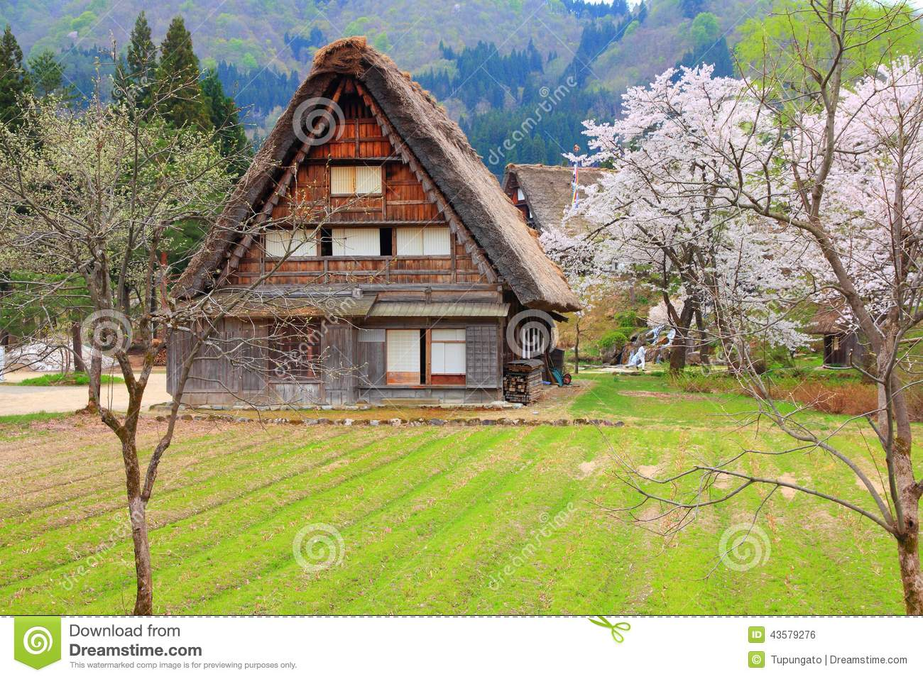 Japan Village Stock Photo - Image: 43579276