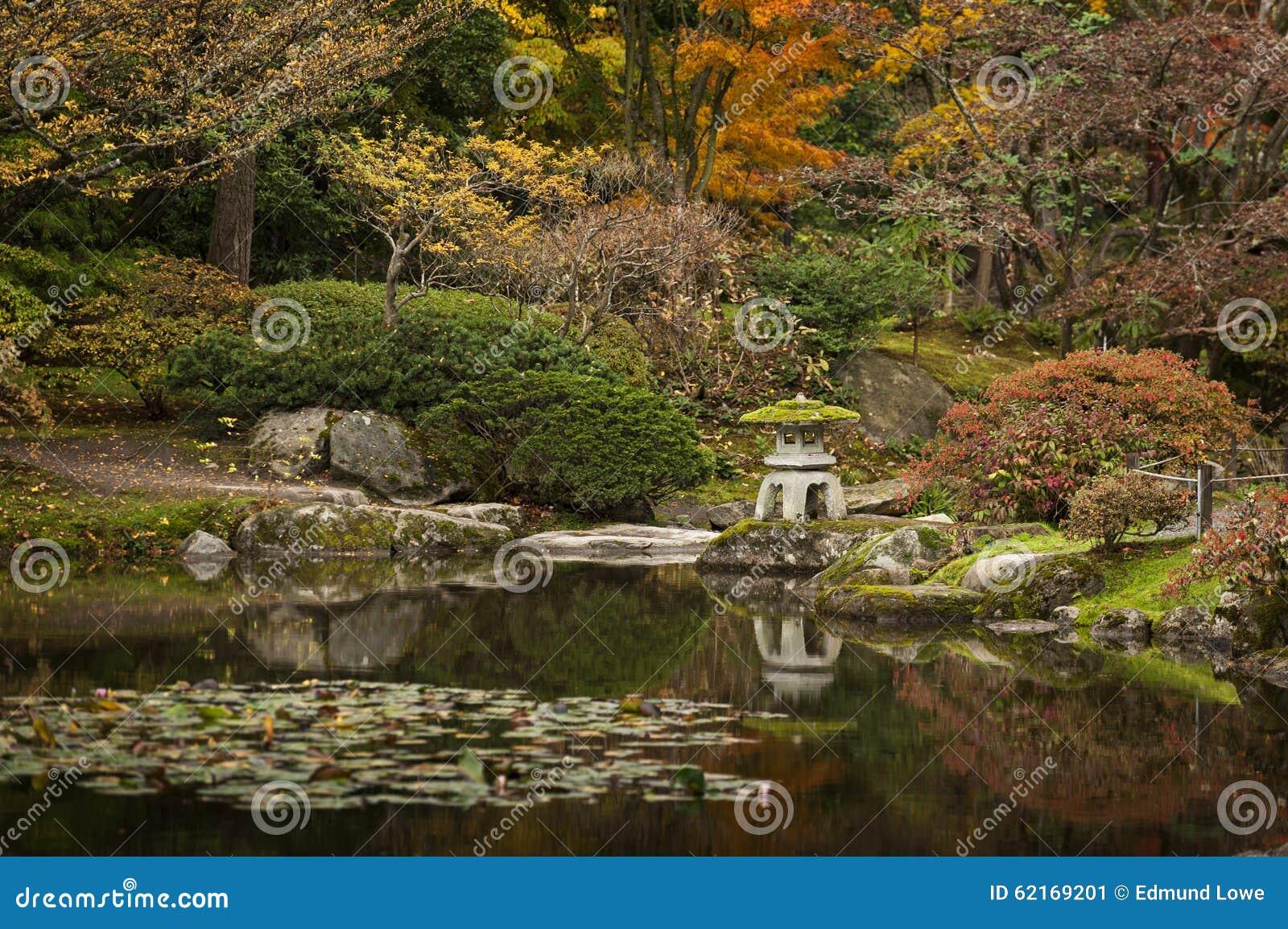 Japan Water Garden Pagoda. stock image. Image of pagoda - 62169201
