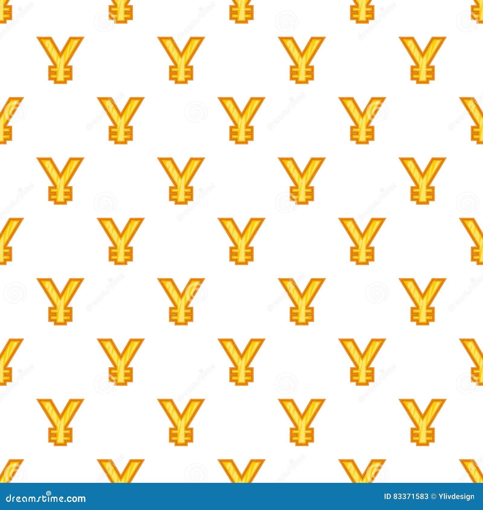 Japan Yen Currency Symbol Pattern Cartoon Style Stock Vector