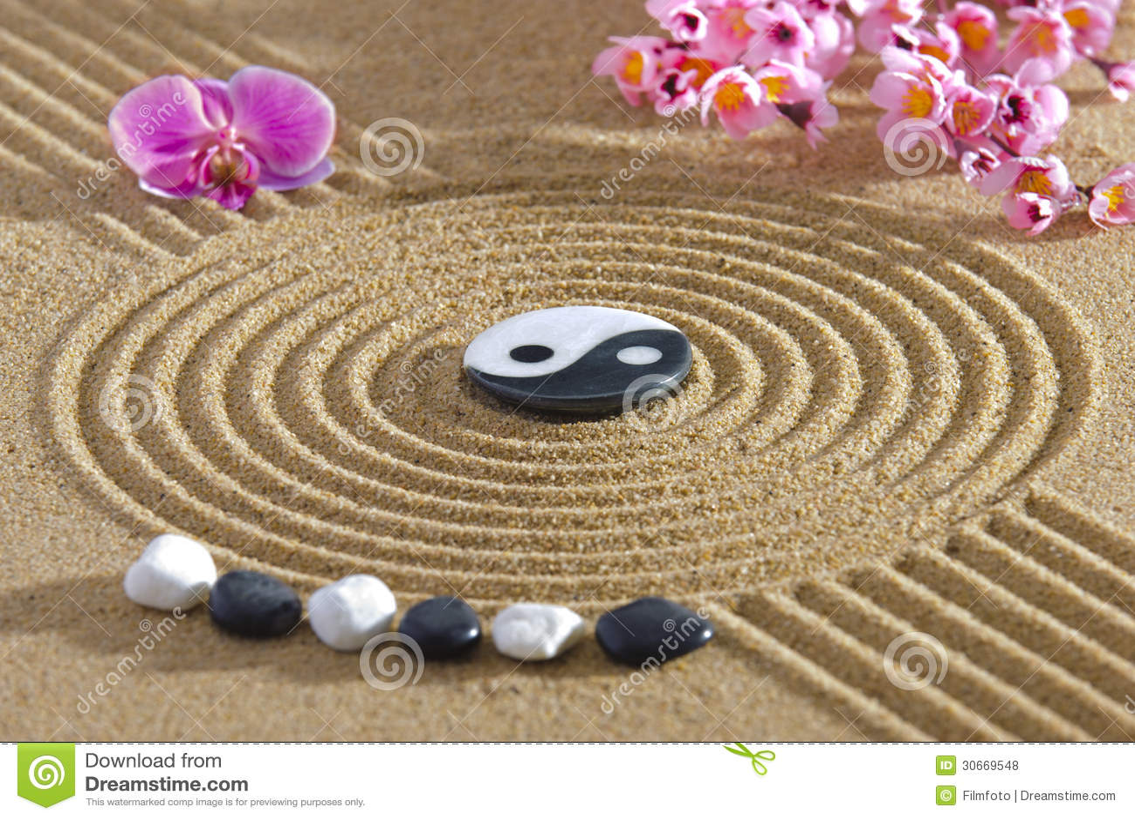 Japan zen garden royalty free stock photos image 30669548 for Fond ecran zen