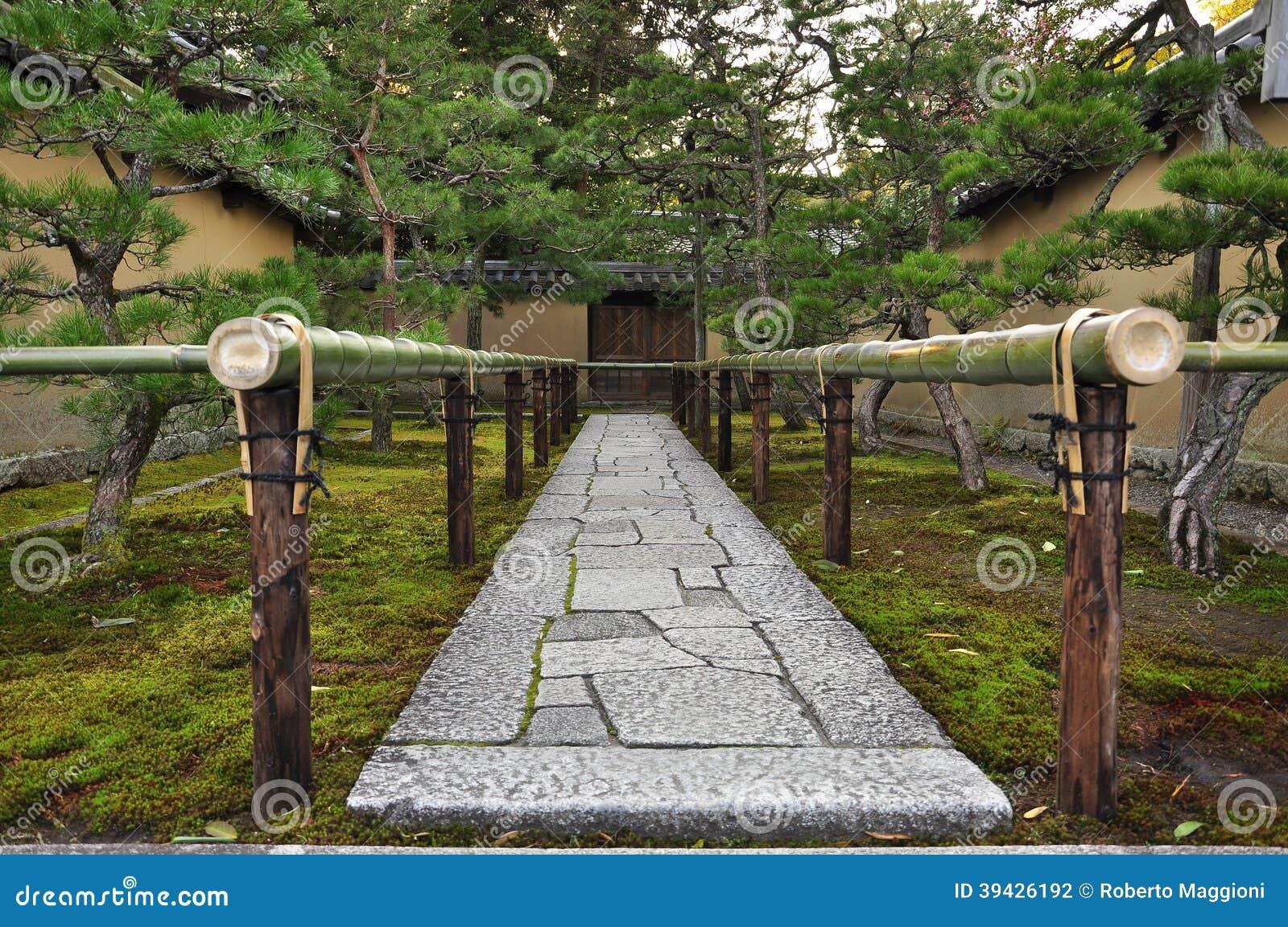Japan Zen Temple Garden Entrance Stone Path Stock Photo Image Of
