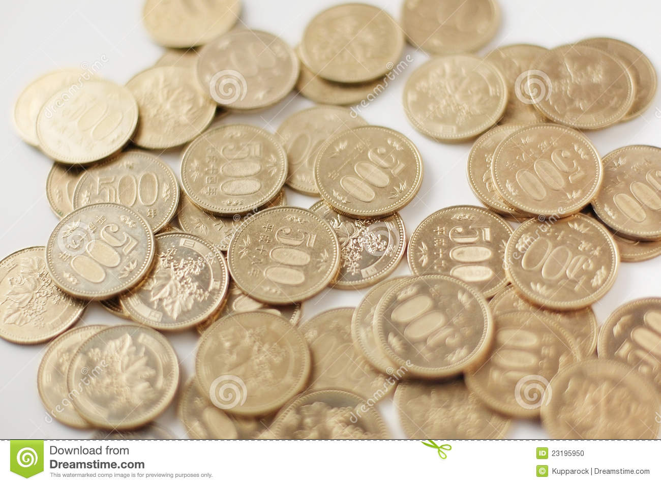 japanese 500 yen coins stock photo image of currency 23195950