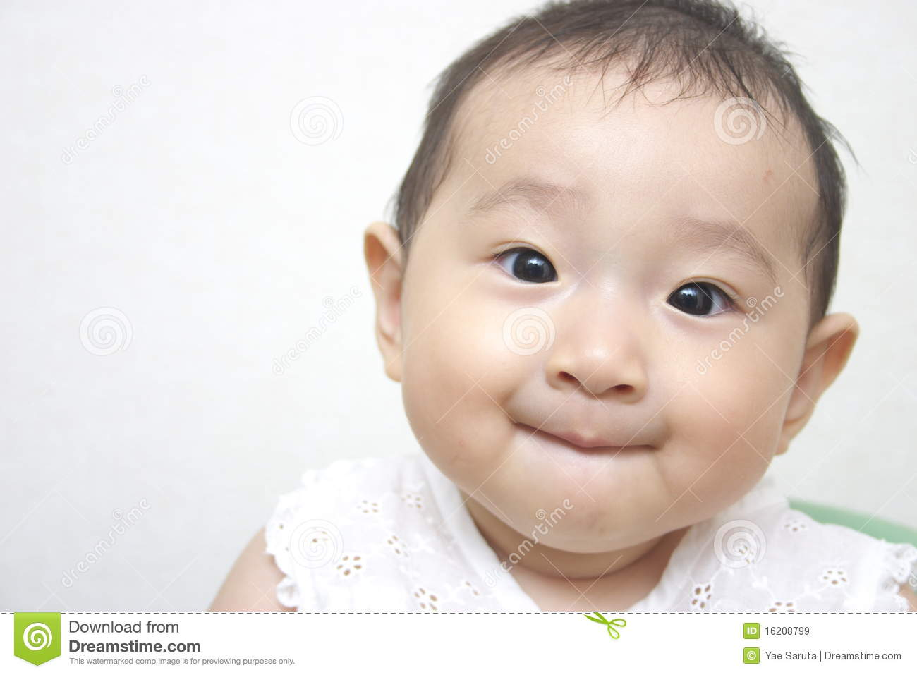 Japanese Baby Stock Image. Image Of Smile, Girl, Baby