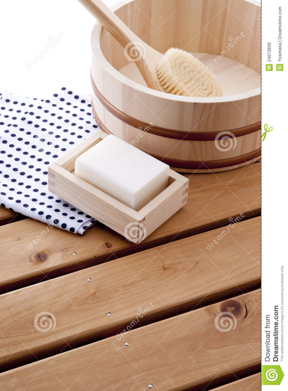 Japanese Bath Time Stock Image Image Of Brush Take 24673839