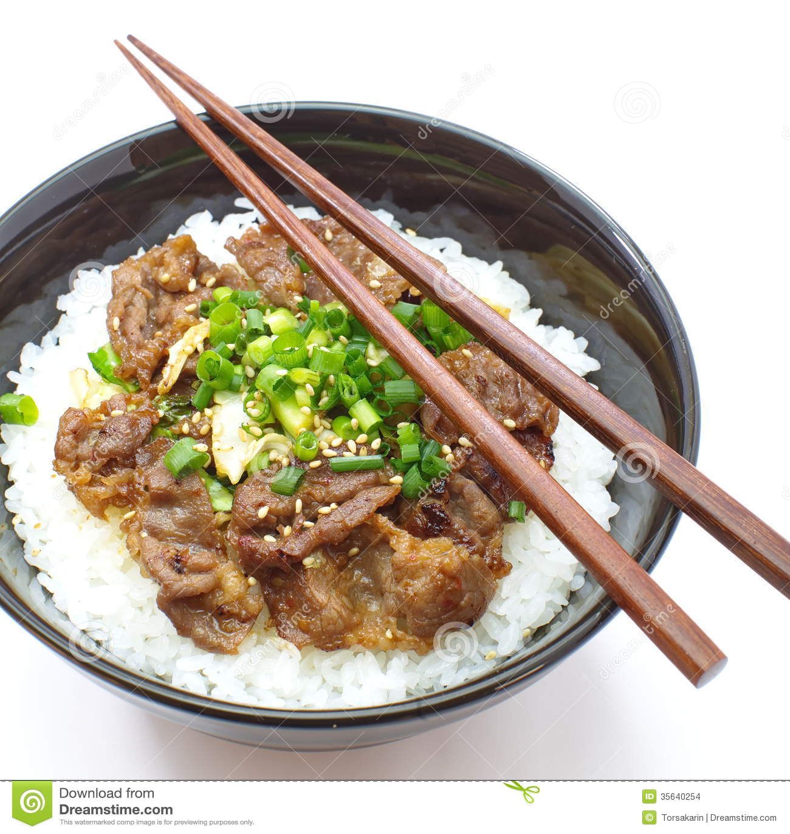 Japanese Beef Bowl, Gyudon Stock Images - Image: 35640254