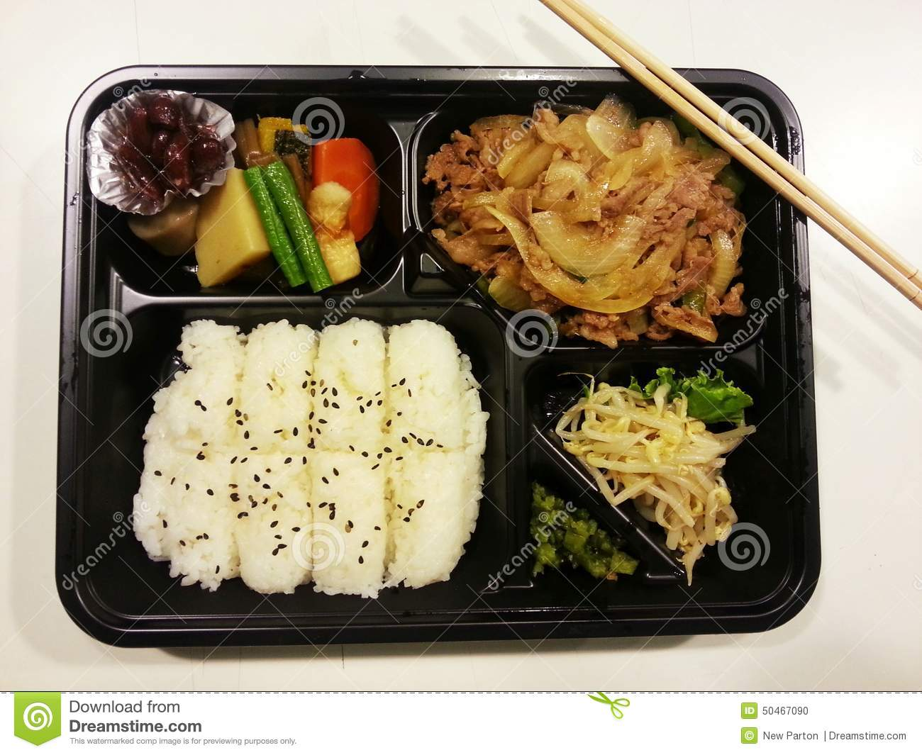 Japanese bento set japanese food japan stock photo for Academy of oriental cuisine