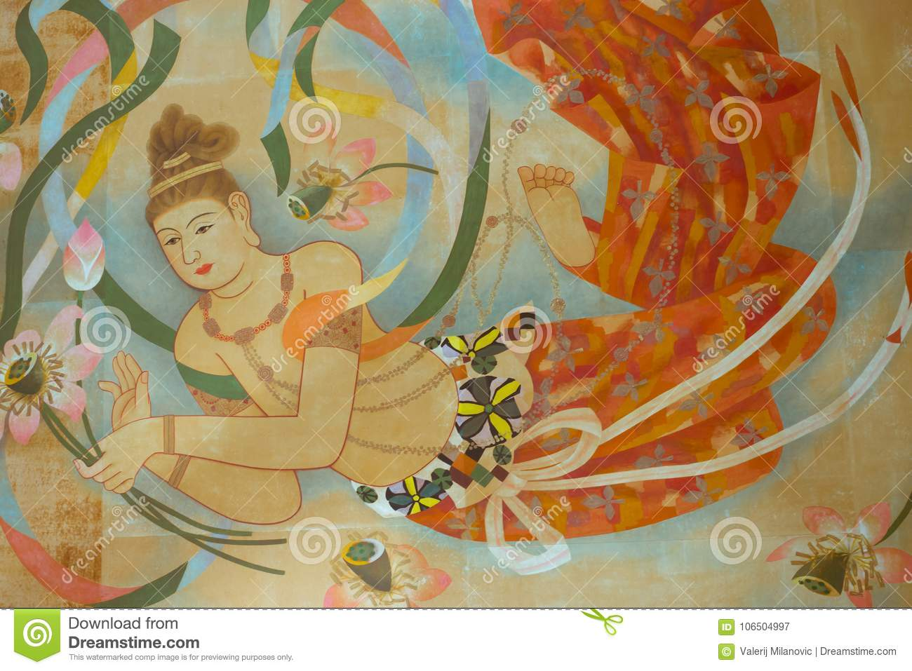 Art Temple Ceiling Painting