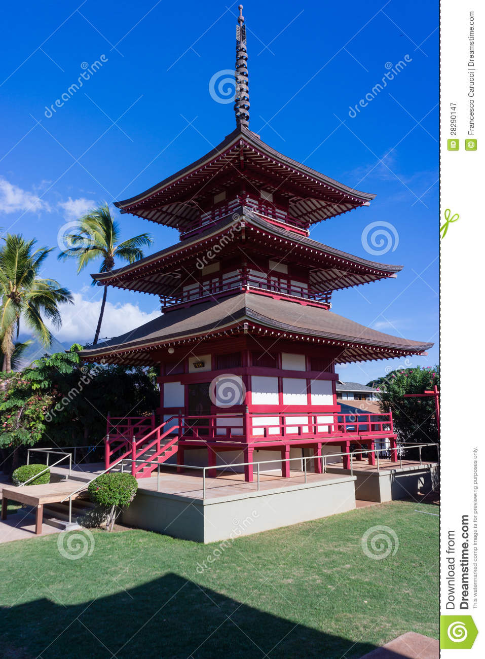 Japanese Building In Maui Royalty Free Stock Photography Image 28290147