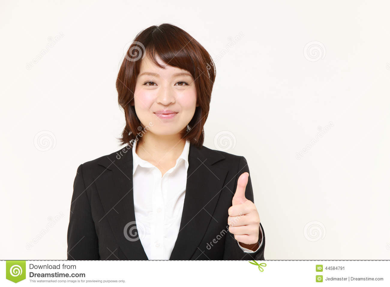 New asian businesswoman of the how